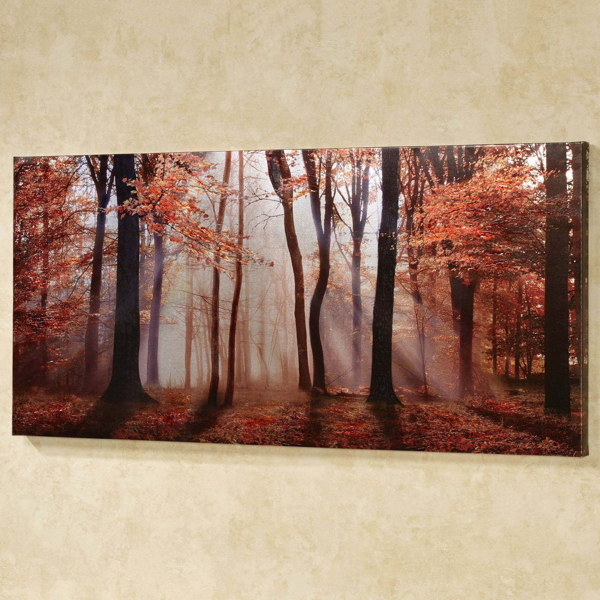 Autumns Allure Giclee Canvas Wall Art With 2017 Canvas Landscape Wall Art (View 1 of 20)