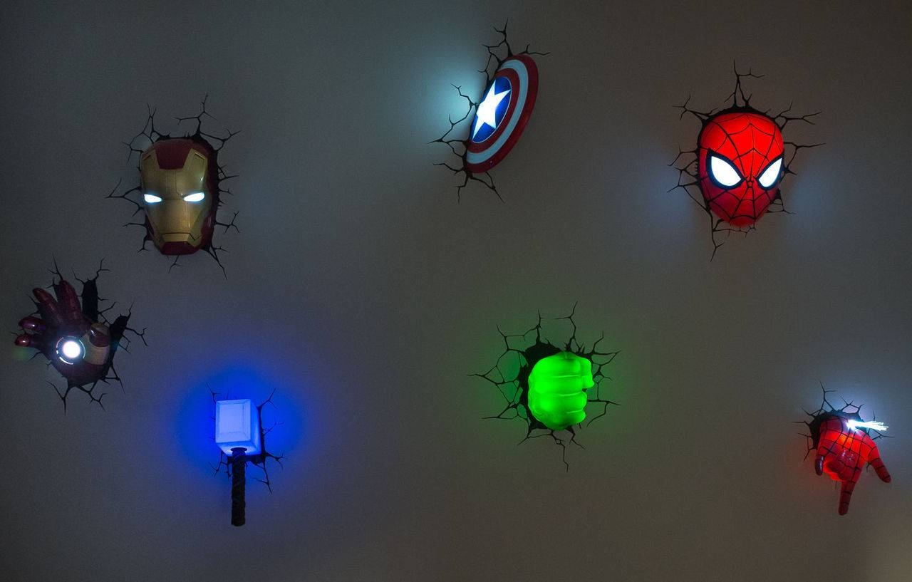 Avengers 3D Wall Art Night Light – Wall Murals Ideas Pertaining To 2017 Captain America 3D Wall Art (View 13 of 20)