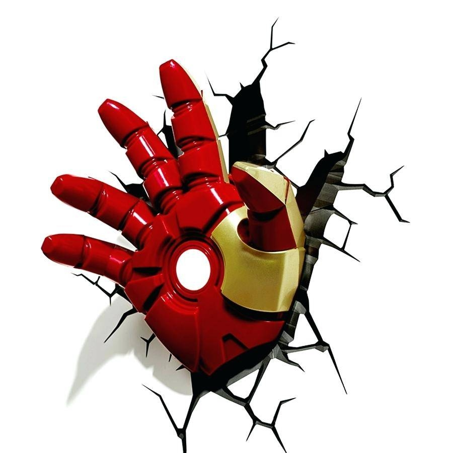 Avengers 3D Wall Lights Creative Iron Man Shape Lamp Alliance Led In Newest Hulk Hand 3D Wall Art (View 6 of 20)