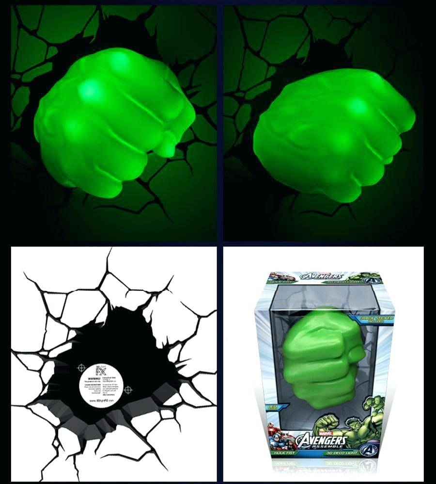 Avengers 3d Wall Lights Hulk Smash Night Light The Art Home Pertaining To 2017 Hulk Hand 3d Wall Art (View 18 of 20)