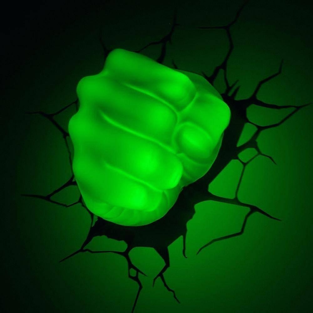 Avengers 3D Wall Lights Hulk Smash Night Light The Art Home Pertaining To Recent Hulk Hand 3D Wall Art (View 8 of 20)