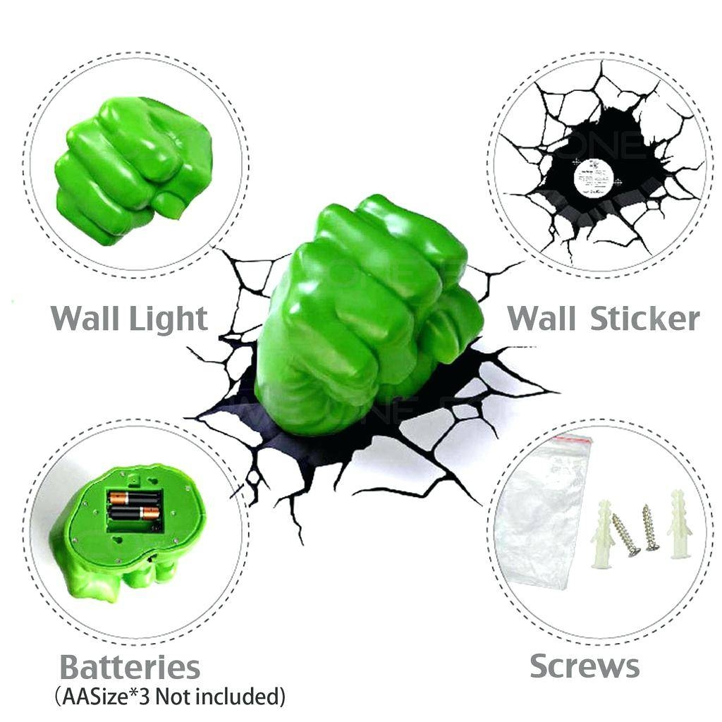 Avengers 3D Wall Lights Hulk Smash Night Light The Art Home Within Most Current 3D Wall Art Night Light Australia (View 7 of 20)