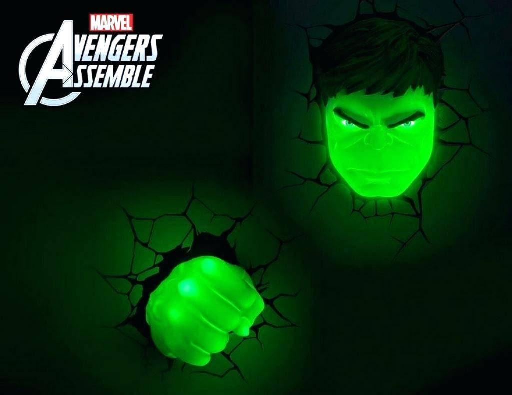 Avengers 3D Wall Lights Led Light With Marvel Hulk Decor Regarding Most Current 3D Wall Art Night Light Australia (View 9 of 20)