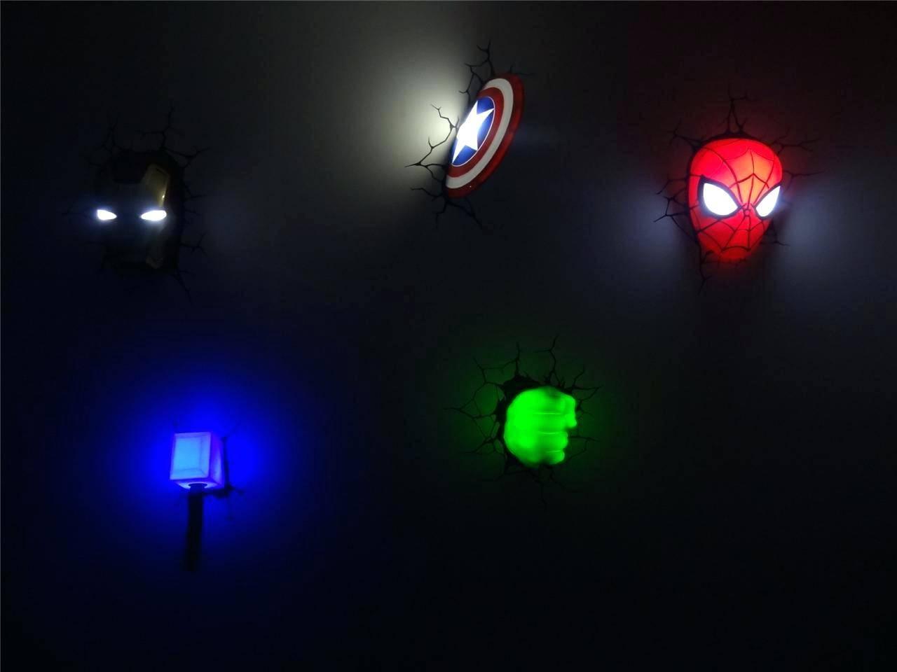 Avengers 3d Wall Lights Light Medium Size – Suintramurals Pertaining To Best And Newest 3d Wall Art Night Light Australia (View 17 of 20)