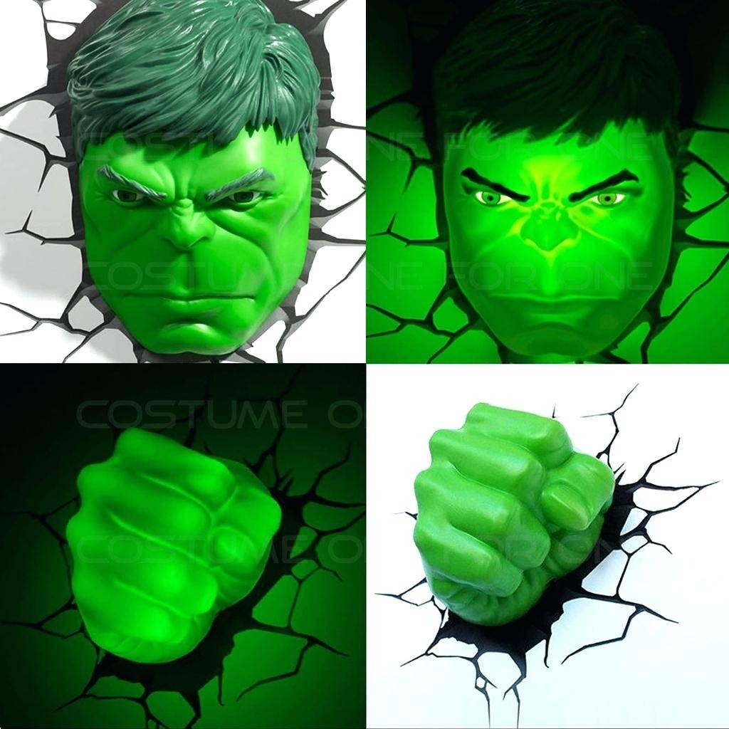 Avengers 3d Wall Lights Marvel Spider Man Hand Led Night Light Art For 2018 Hulk Hand 3d Wall Art (View 9 of 20)