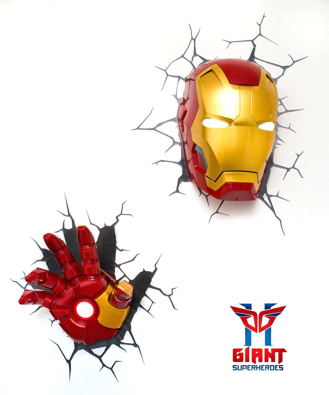 Avengers 3D Wall Lights Marvel Spider Man Hand Led Night Light Art Throughout Newest 3D Wall Art Night Light Australia (View 14 of 20)