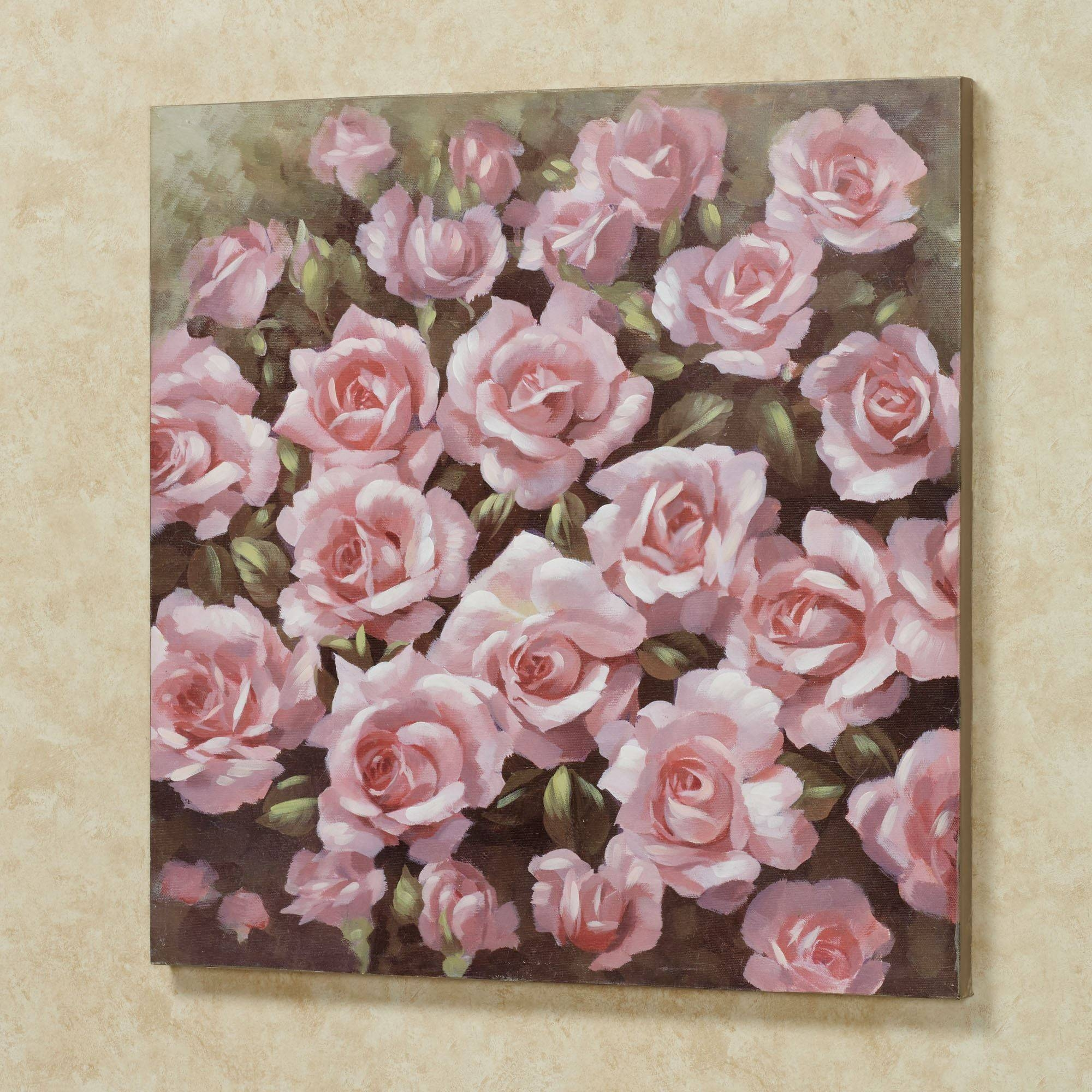 Averie Pink Rose Canvas Wall Art In 2017 Rose Canvas Wall Art (View 3 of 20)