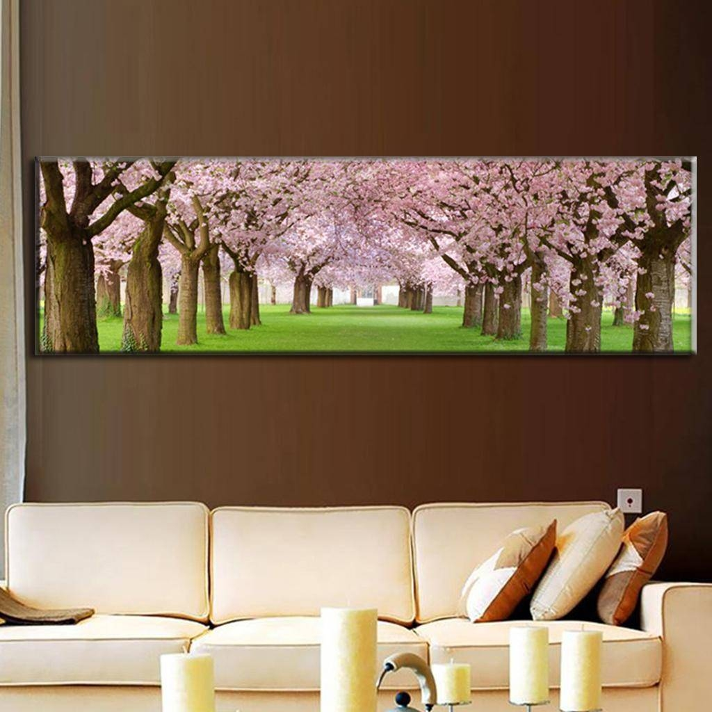 Awesome 25+ Cherry Blossom Canvas Wall Art Decorating Design Of Throughout Current Big Canvas Wall Art (View 2 of 20)