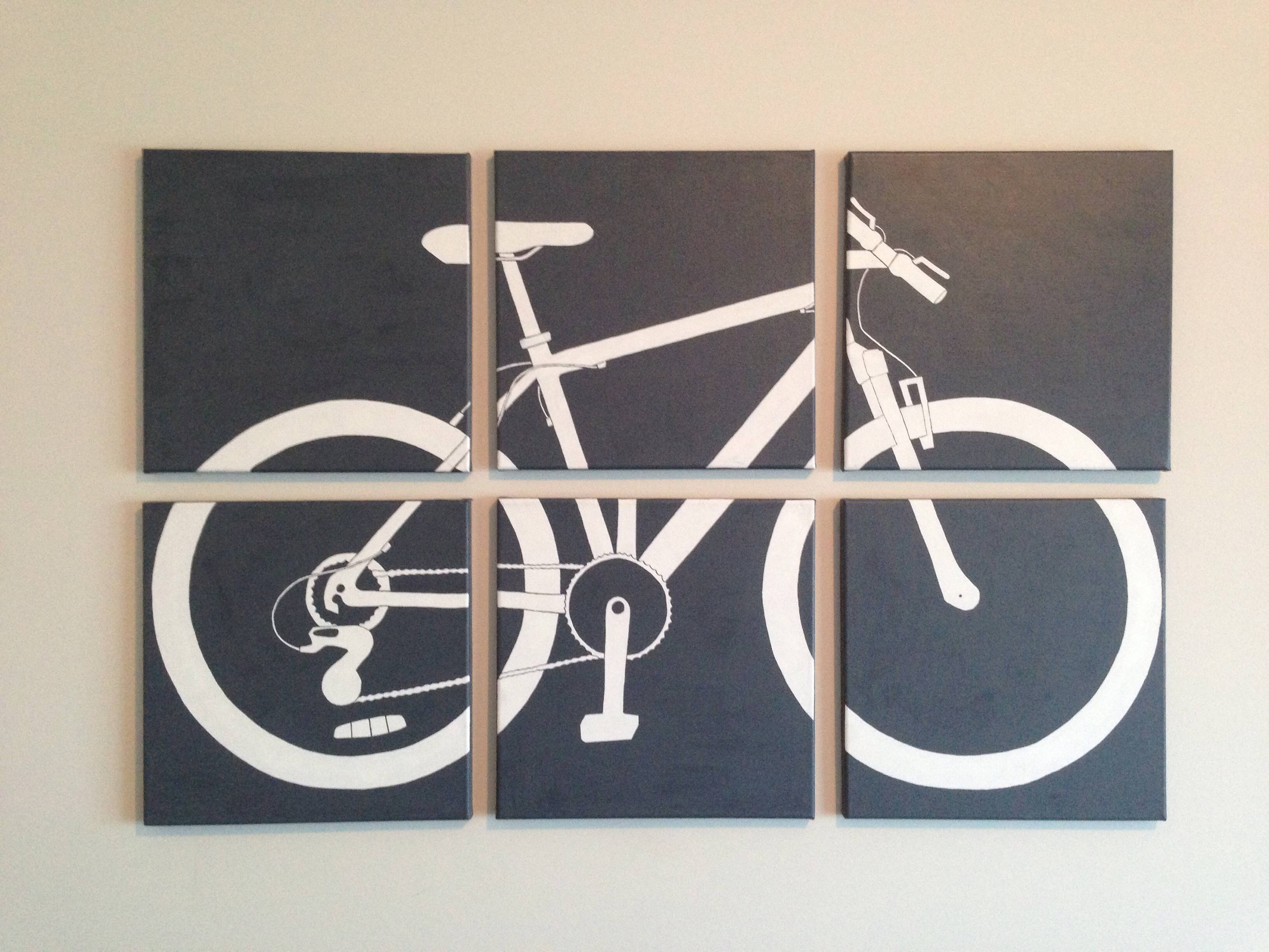 Awesome Red Metal Bicycle Wall Art Bicycle Wall Art Bicycle In Most Popular Metal Bicycle Wall Art (View 4 of 20)