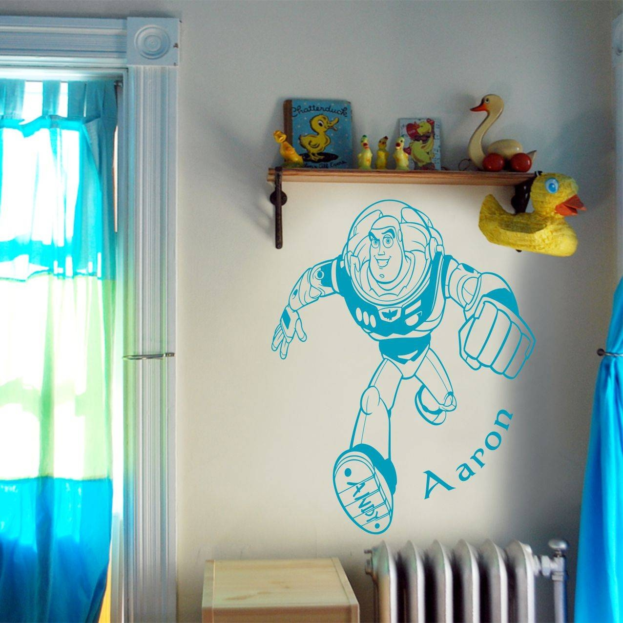 Awesome Toy Story Buzz Lightyear Wall Art Decal Vinyl Sticker Wall throughout Best and Newest Toy Story Wall Stickers
