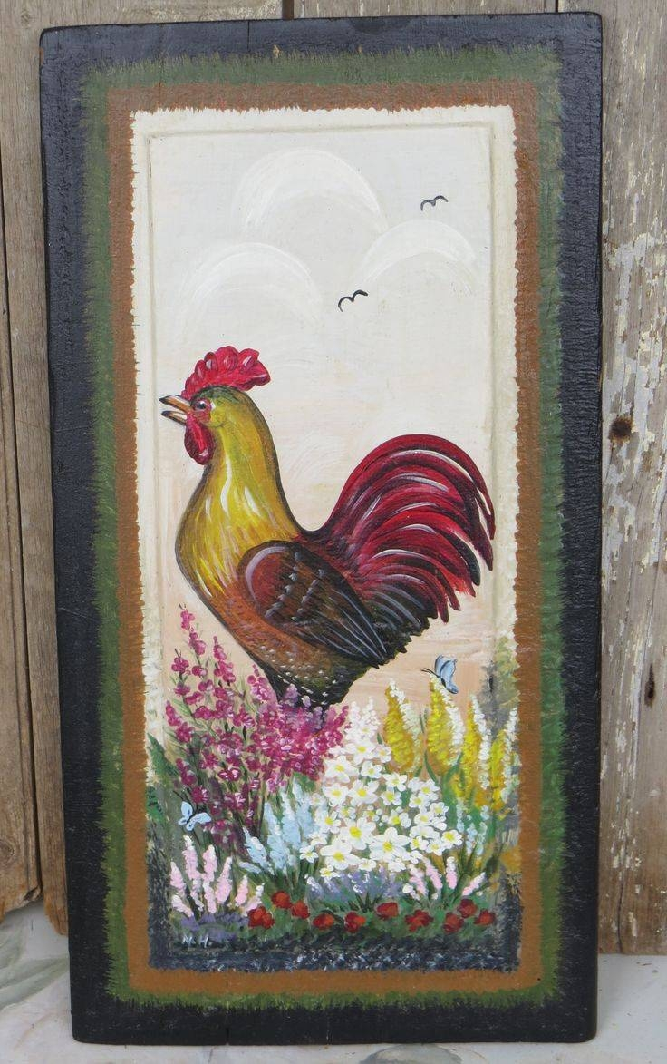 Awesome Wall Decor Vintage Midwest Metal Rooster Rooster Wall For Most Current Metal Rooster Wall Decor (View 2 of 25)