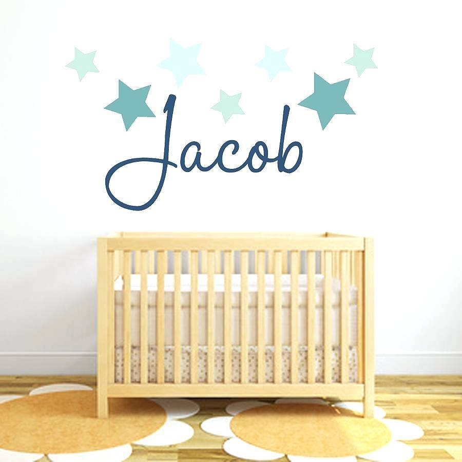Baby Girl Name Wall Decals Wall Art Stickers And Decals Star Name For Most Popular Baby Name Wall Art (View 22 of 25)