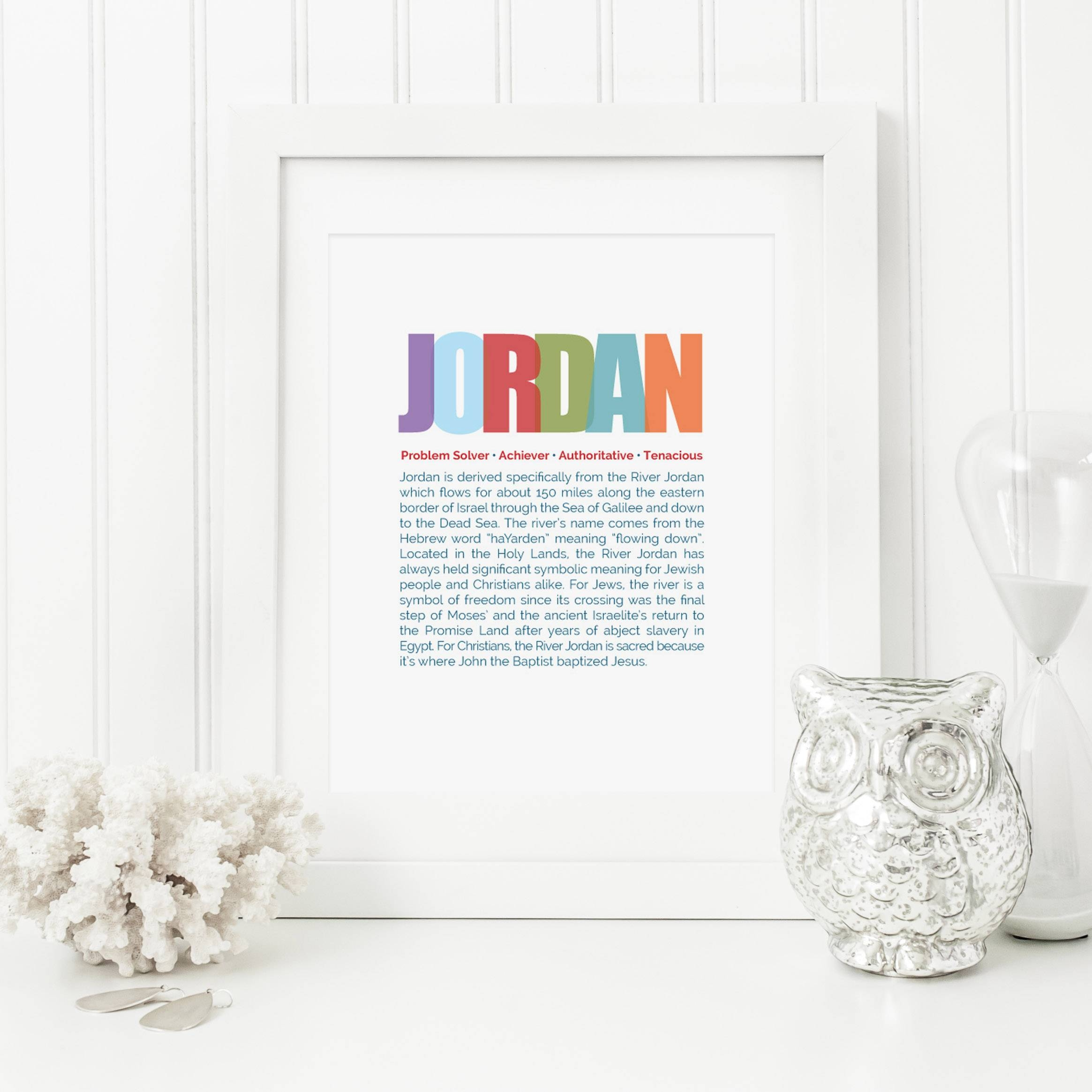 Baby Name Meaning Art Throughout Newest Personalized Nursery Wall Art (View 4 of 20)