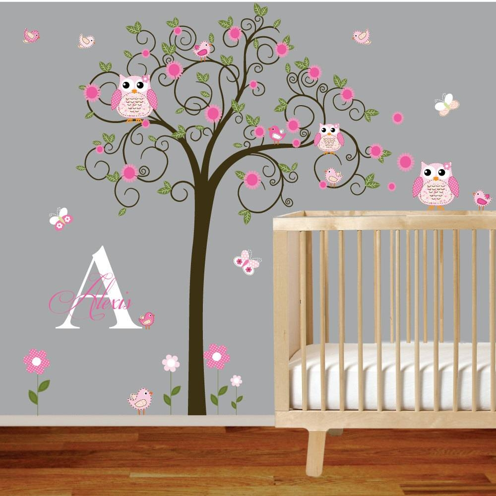 Baby Nursery Decor: Perfect Picture Baby Girl Wall Decals For With Most Popular Baby Wall Art (View 14 of 30)