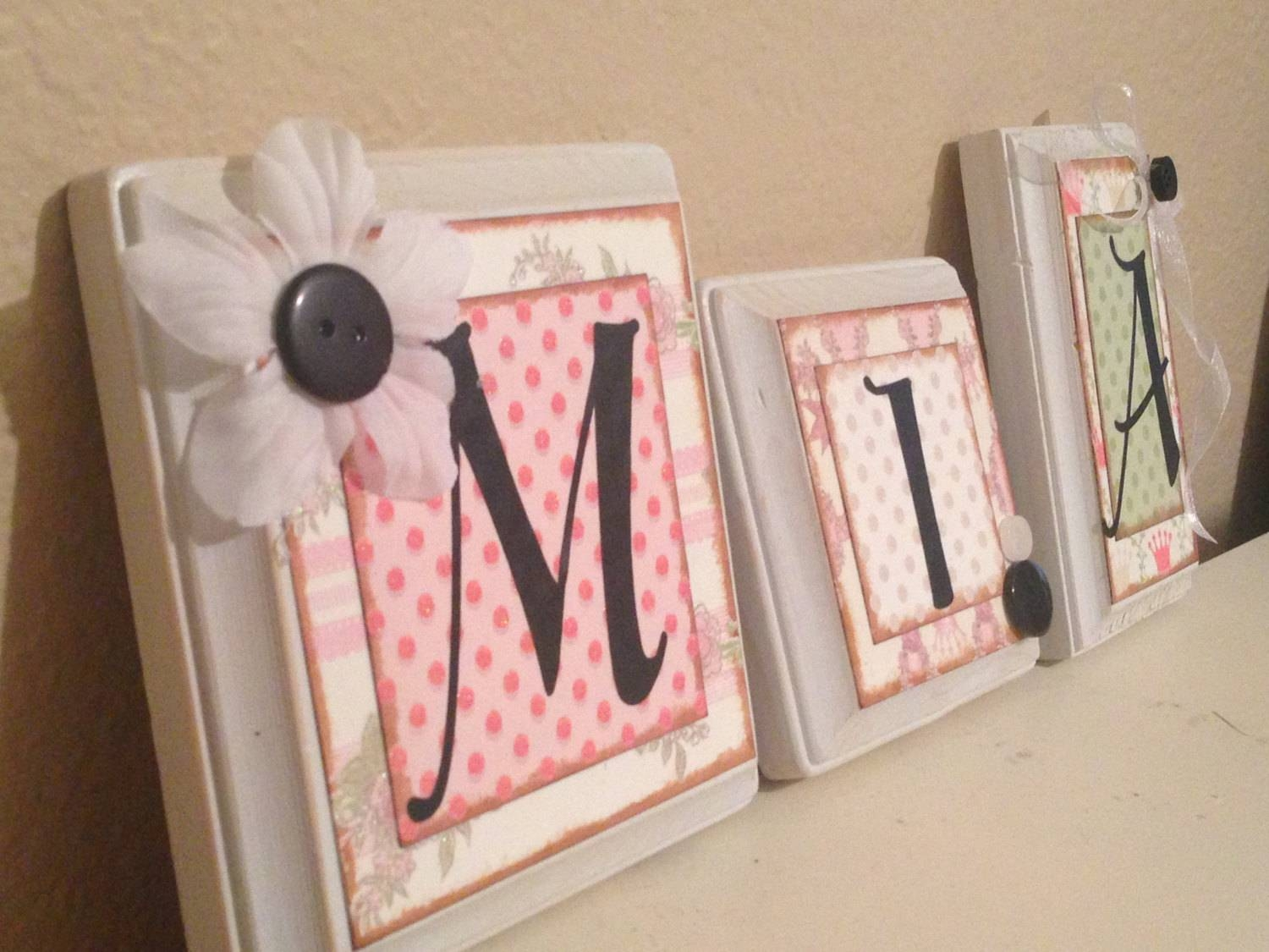 Baby Nursery Decor: Plastic Frame Baby Letters For Nursery Wall With 2017 Personalized Nursery Wall Art (View 20 of 20)
