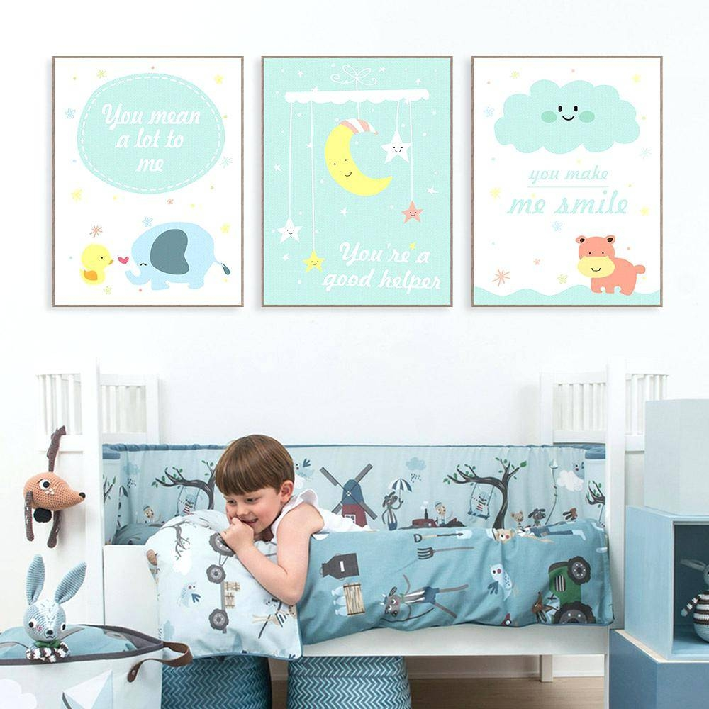 Baby Nursery Framed Wall Art Nursery Art Prints Owl Cartoon With Regard To Most Current Canvas Prints For Baby Nursery (View 14 of 20)