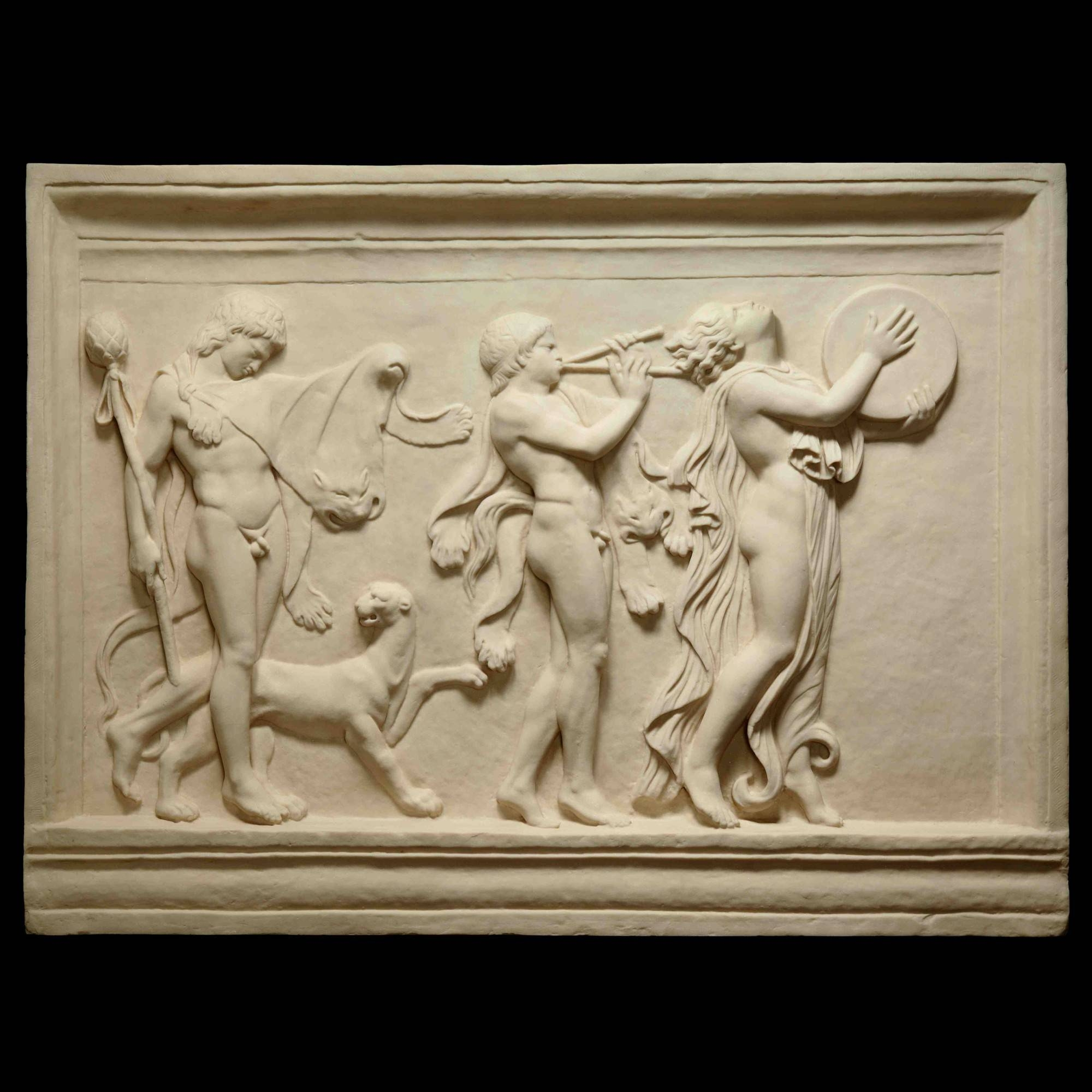 Bacchic Procession – Ancient Greek Marble Wall Relief Plaque | S&s For Most Up To Date Ancient Greek Wall Art (View 9 of 25)