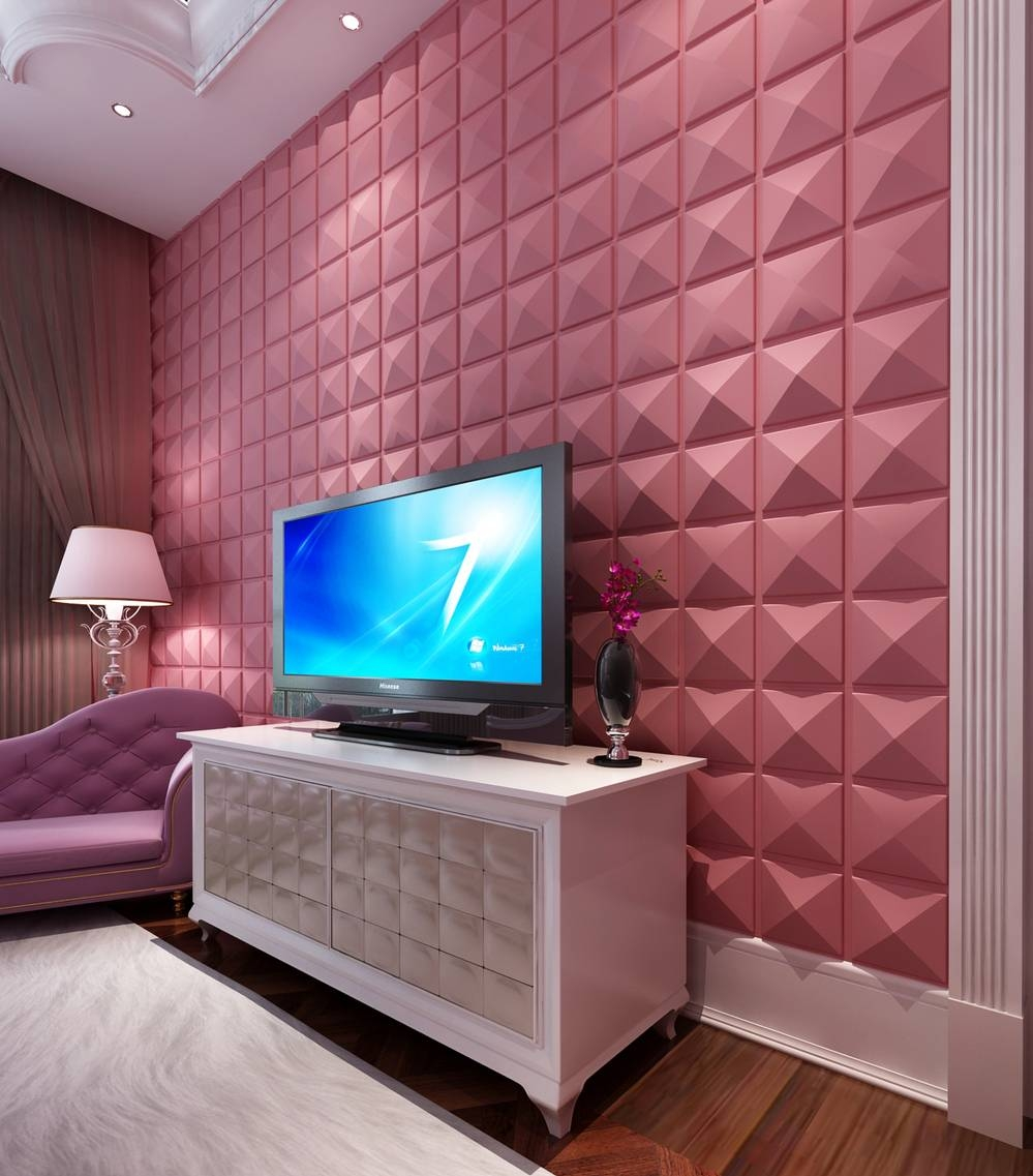 Background Decorative Pure Plastic Pvc 3D Wall Panel For Office Within Most Current 3D Plastic Wall Panels (View 7 of 20)