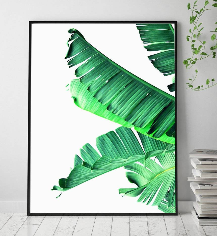 Banana Leaf Printable Art Art Prints Scandinavian Print Pertaining To Best And Newest Palm Leaf Wall Decor (View 7 of 25)