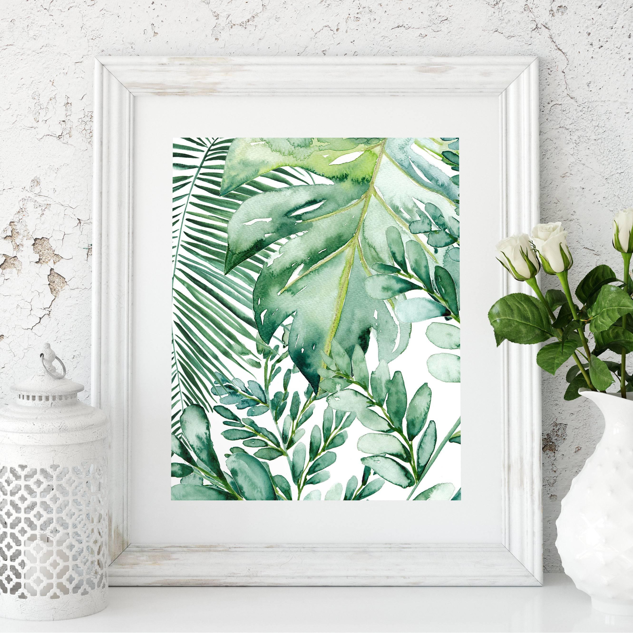 Banana Leaf Wall Art Banana Leaf Decor Palm Leaf Art Print Intended For Current Palm Leaf Wall Art (View 6 of 20)