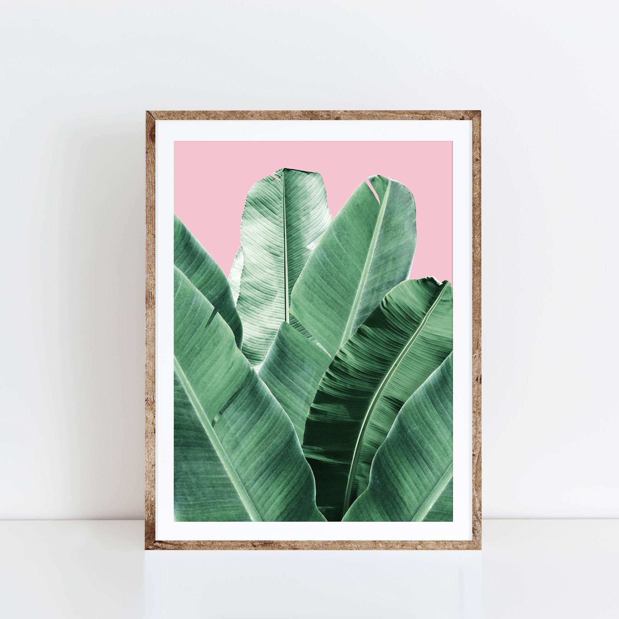Banana Leaf Wall Art Banana Leaf Palm Leaf Banana Leaf Inside Most Popular Palm Leaf Wall Art (View 7 of 20)