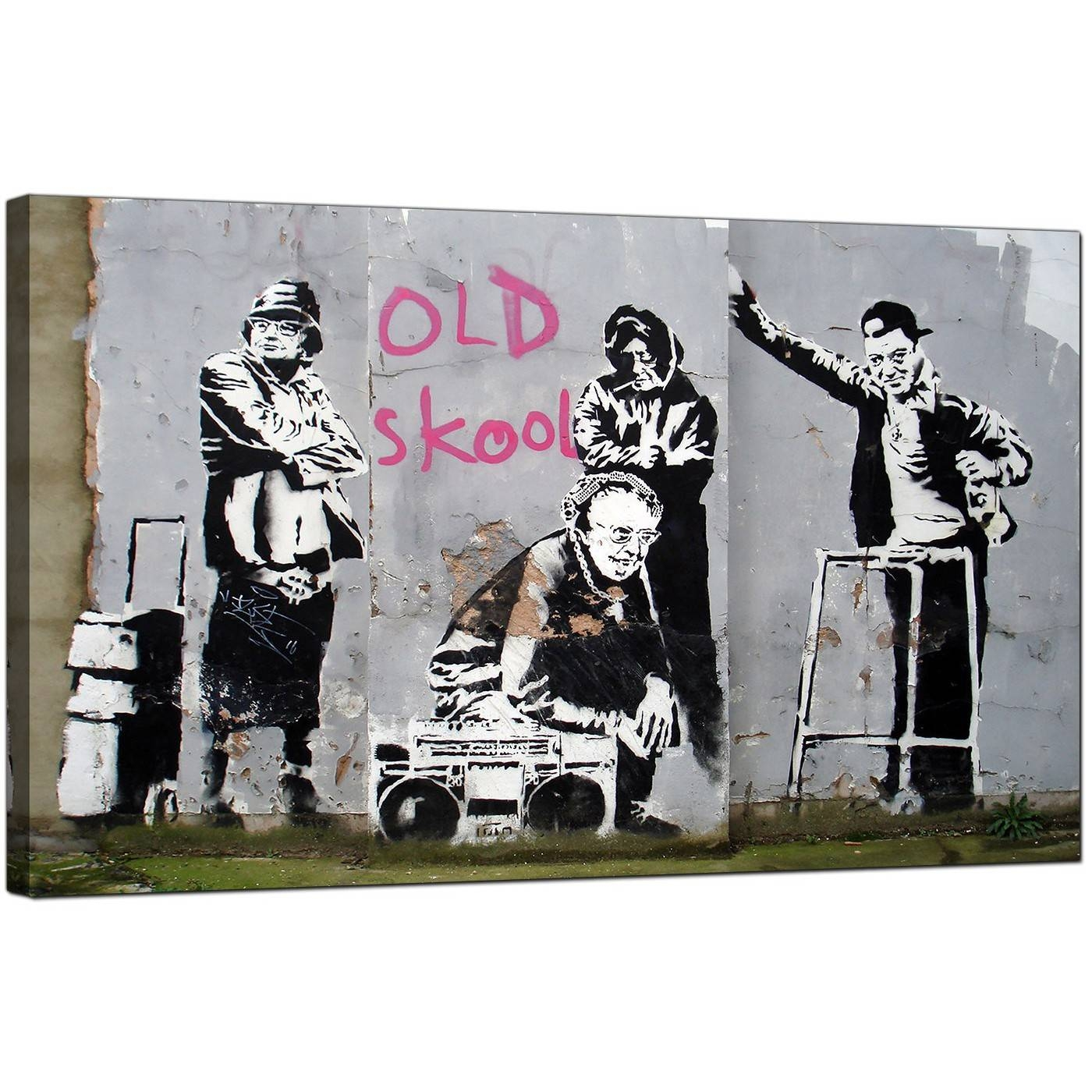 Banksy Canvas Prints – Old Skool Within 2017 Banksy Canvas Wall Art (View 5 of 20)