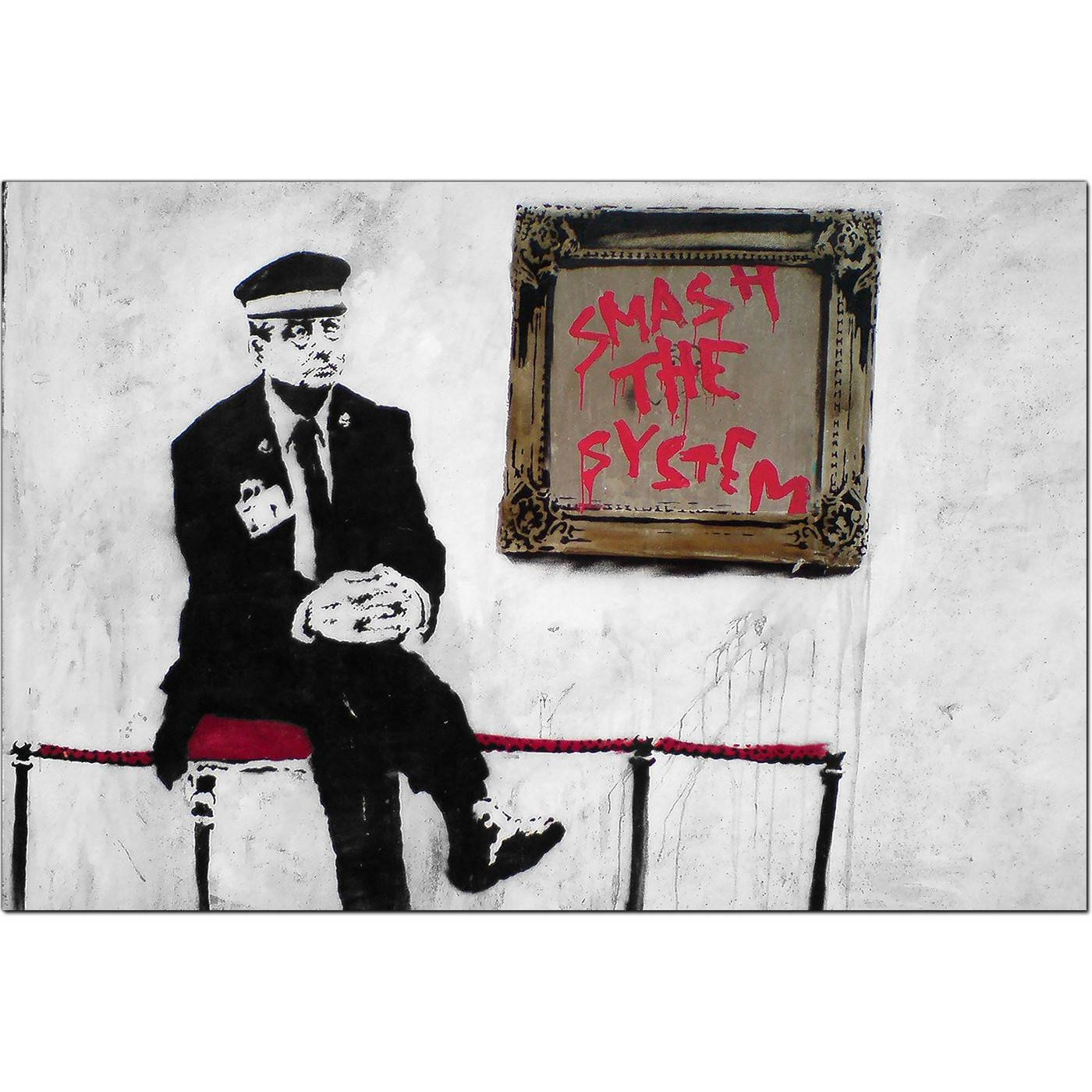 Banksy Canvas Prints – Smash The System For Current Banksy Canvas Wall Art (View 14 of 20)