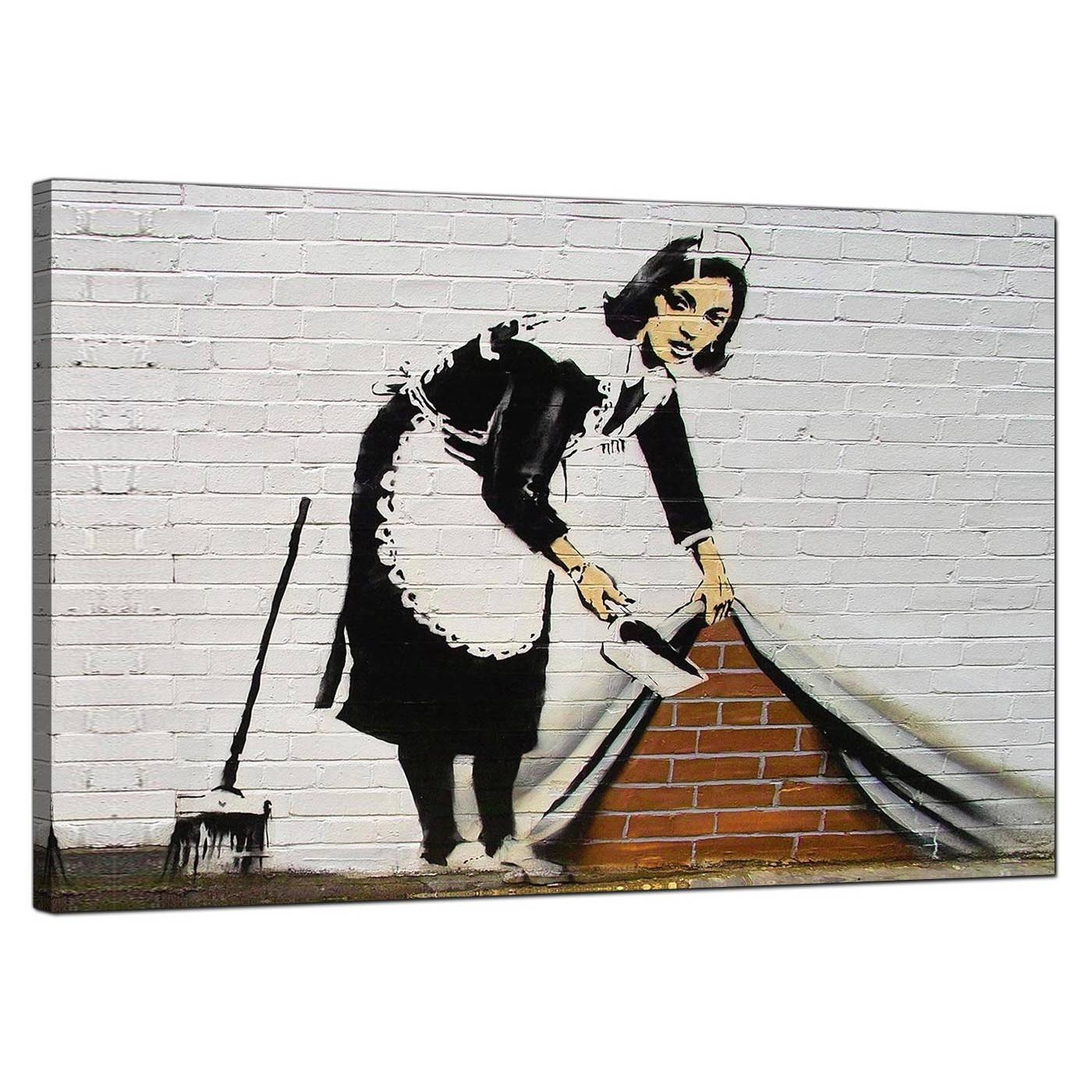 Banksy Canvas Prints – Sweeping It Under The Carpet Intended For Most Popular Banksy Canvas Wall Art (View 7 of 20)