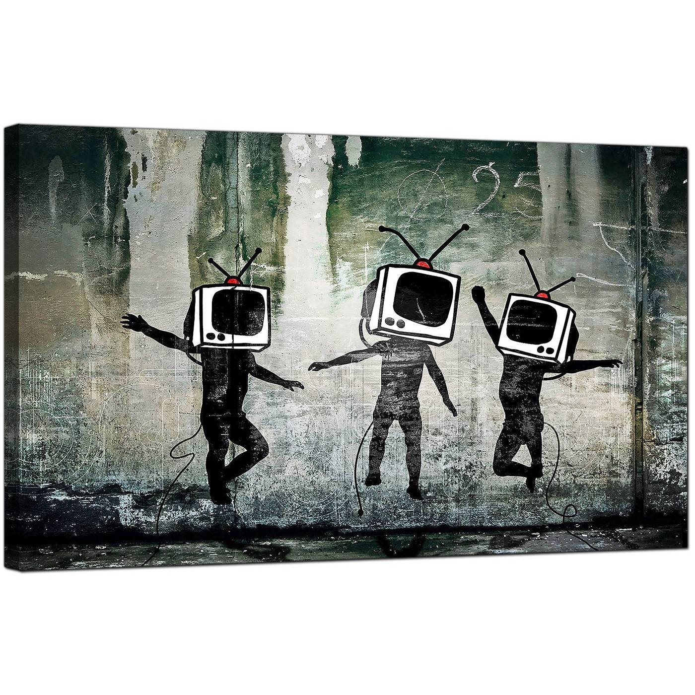 Banksy Canvas Prints – Tv Heads Intended For Most Recent Banksy Canvas Wall Art (View 4 of 20)