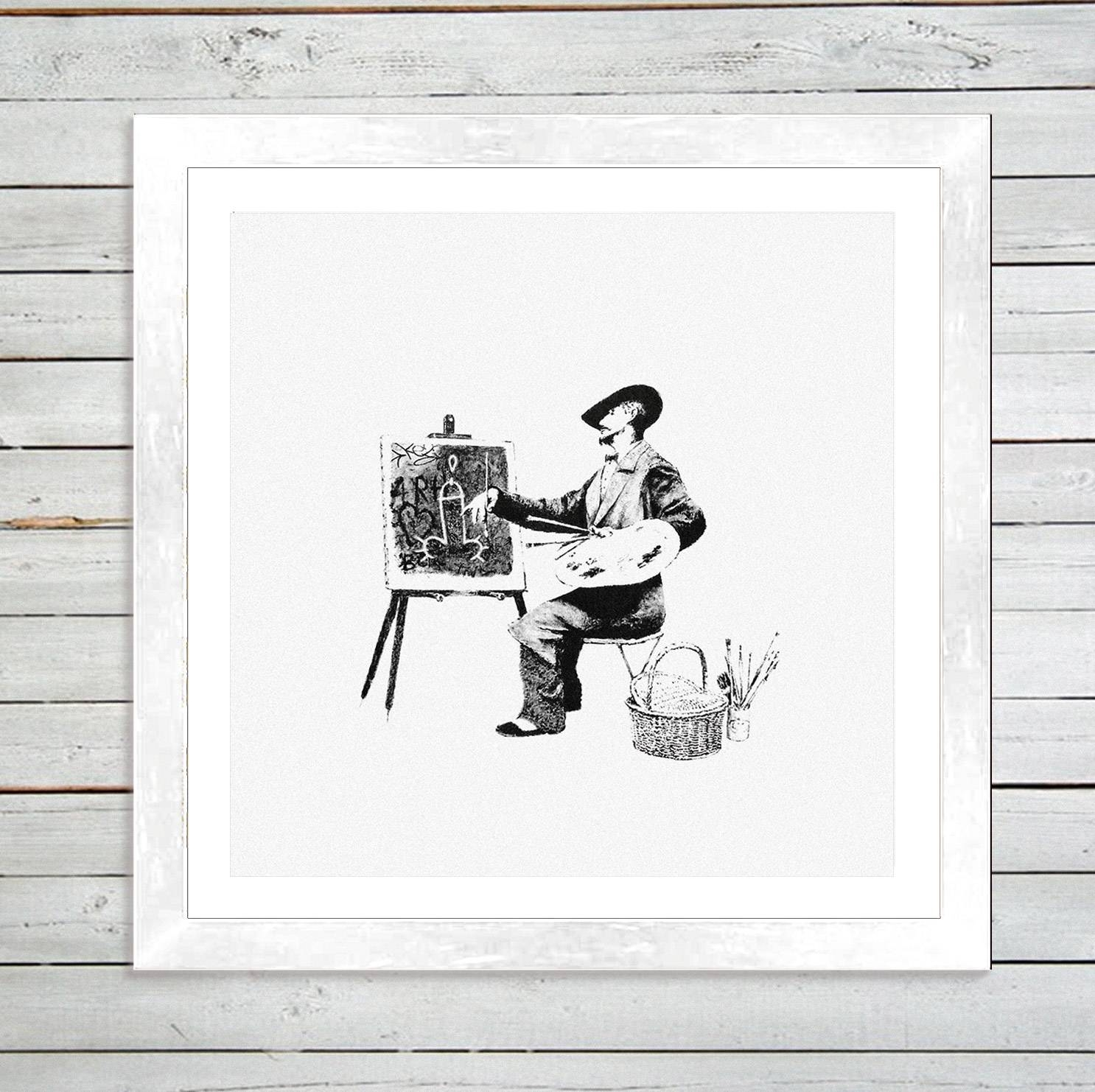 "Banksy ""classic Artistry"" Framed Art Print – Graff (View 12 of 20)"