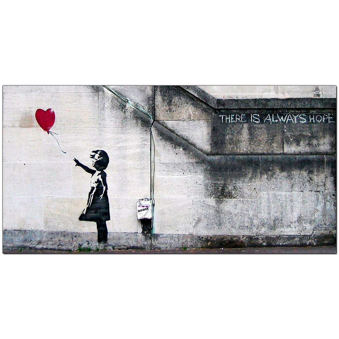 Banksy Large Canvas Prints – Girl With The Red Balloon For Dining Room Intended For Most Recently Released Banksy Canvas Wall Art (View 3 of 20)