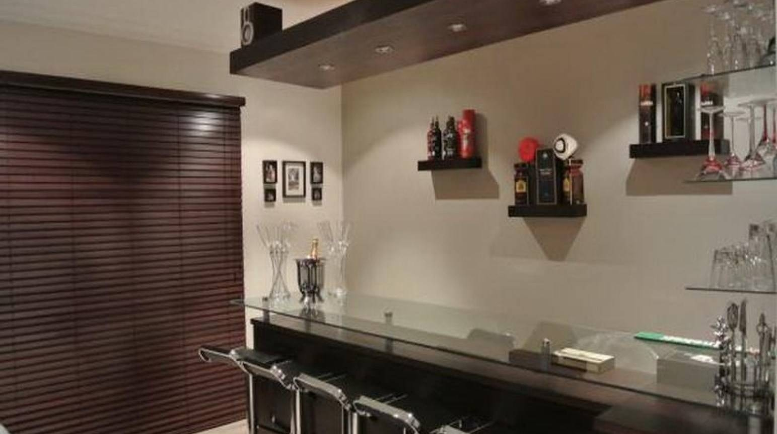 Bar : Beautiful Black White Wood Glass Modern Design Home Bar In Recent Wall Art For Bar Area (View 1 of 20)