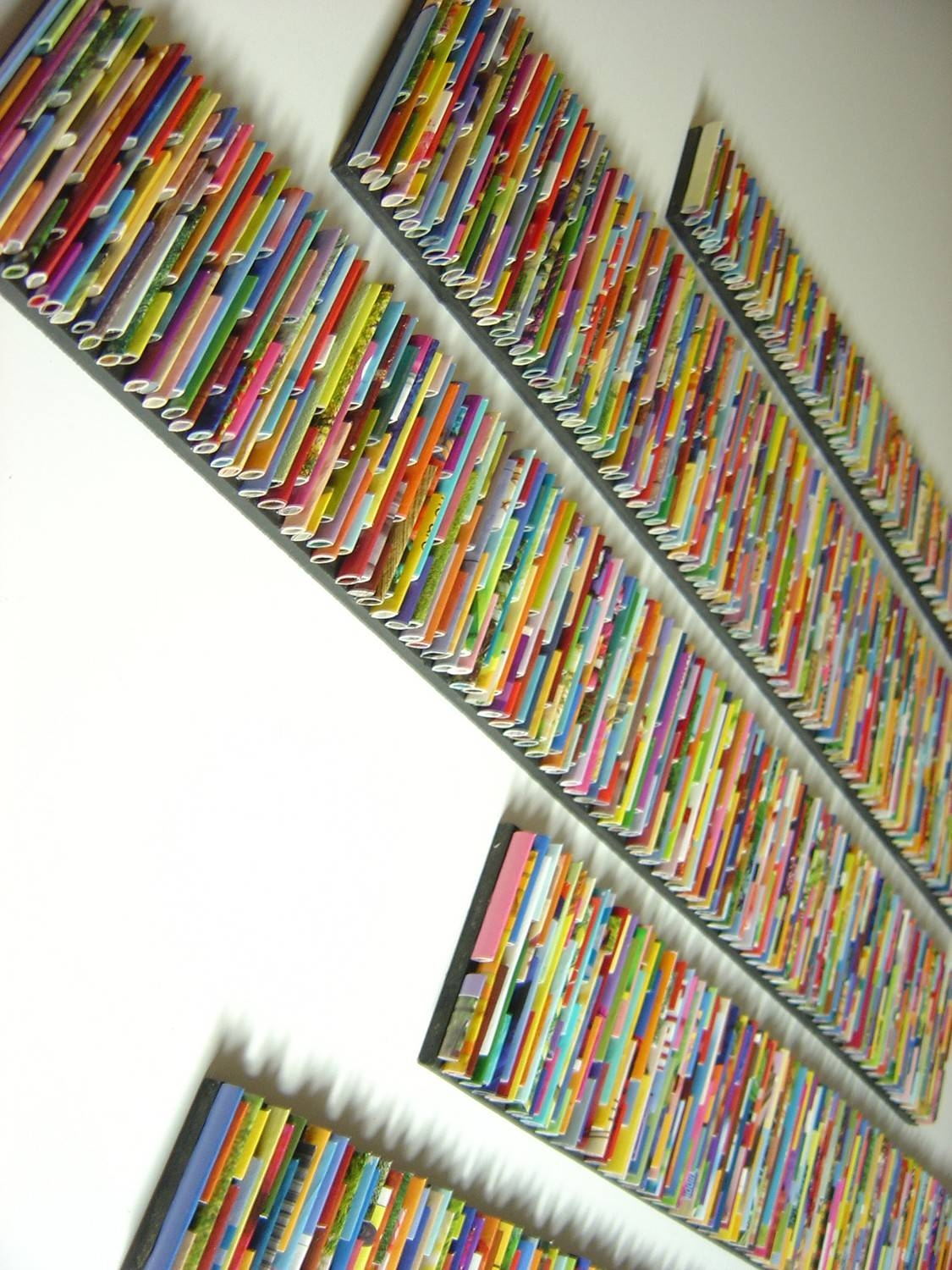 Barcode Wall Art Made From Recycled Magazines Colorful Art Pertaining To Most Recently Released Recycled Wall Art (View 3 of 30)