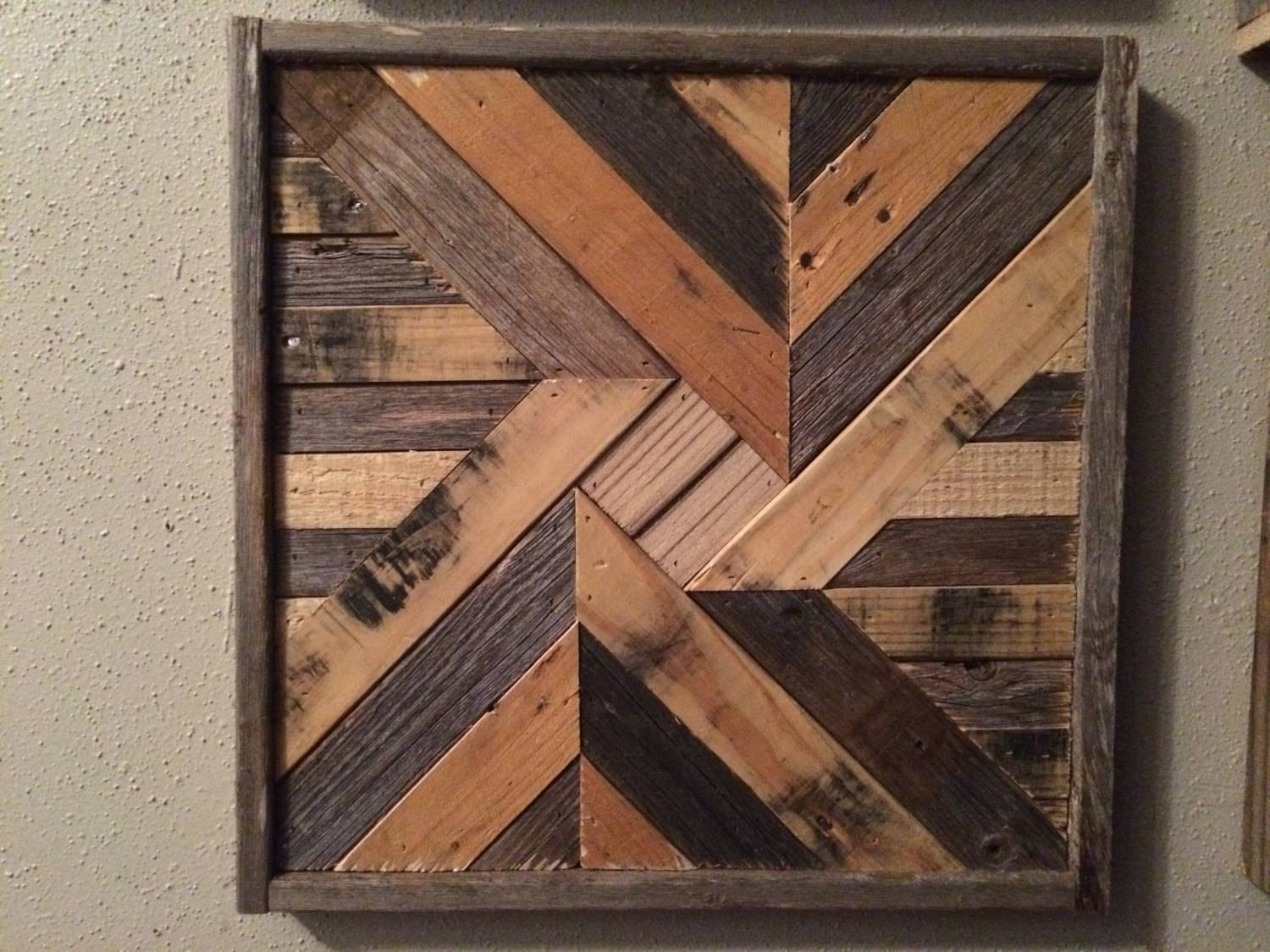Barnwood Quilt Natural Reclaimed Wood Wall Art Pertaining To Latest Natural Wood Wall Art (View 5 of 20)