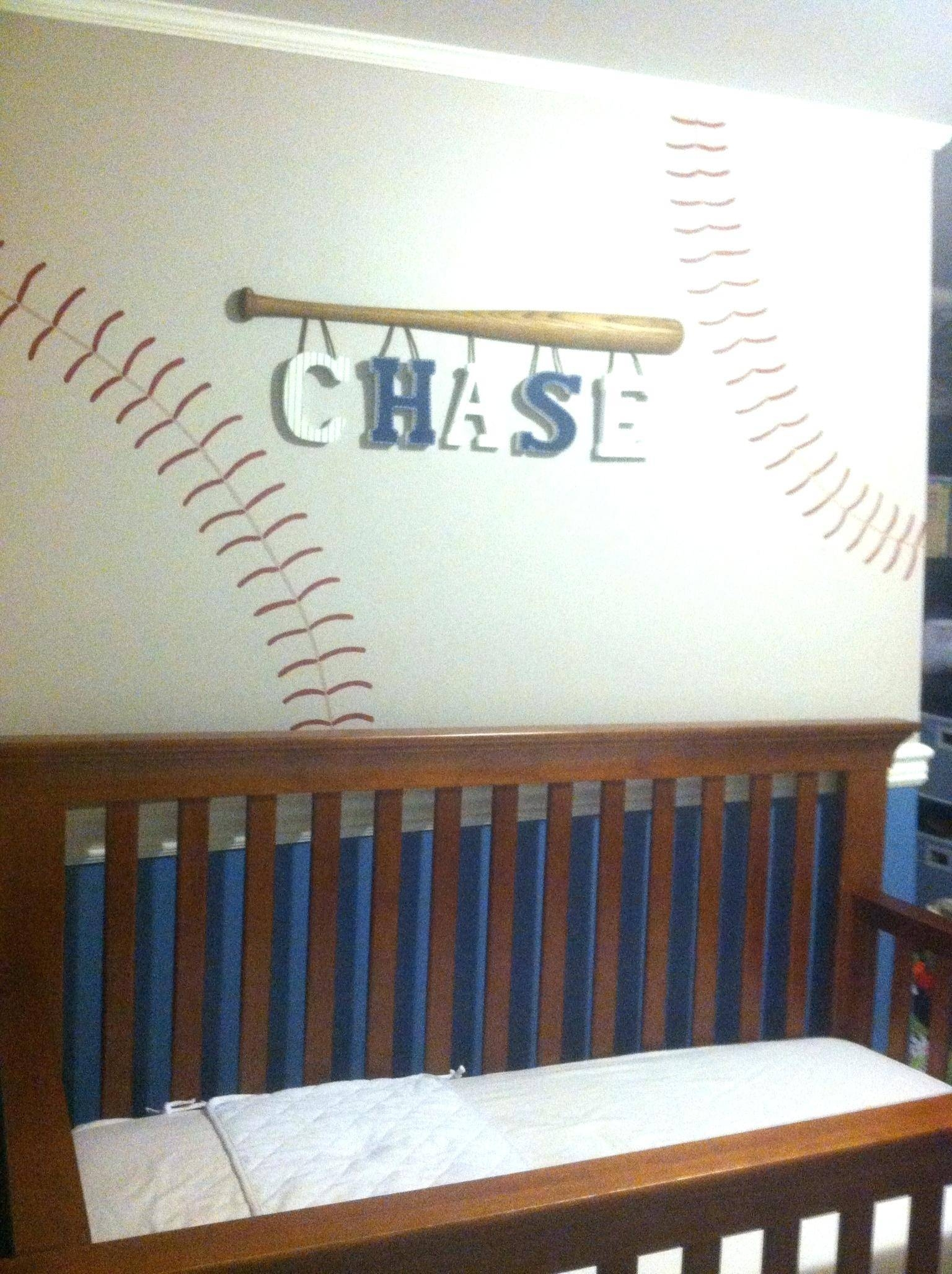 Baseball Wall Decals For Kids Wall Ideas Baseball Wall Art With Most  Recently Released Vintage Baseball