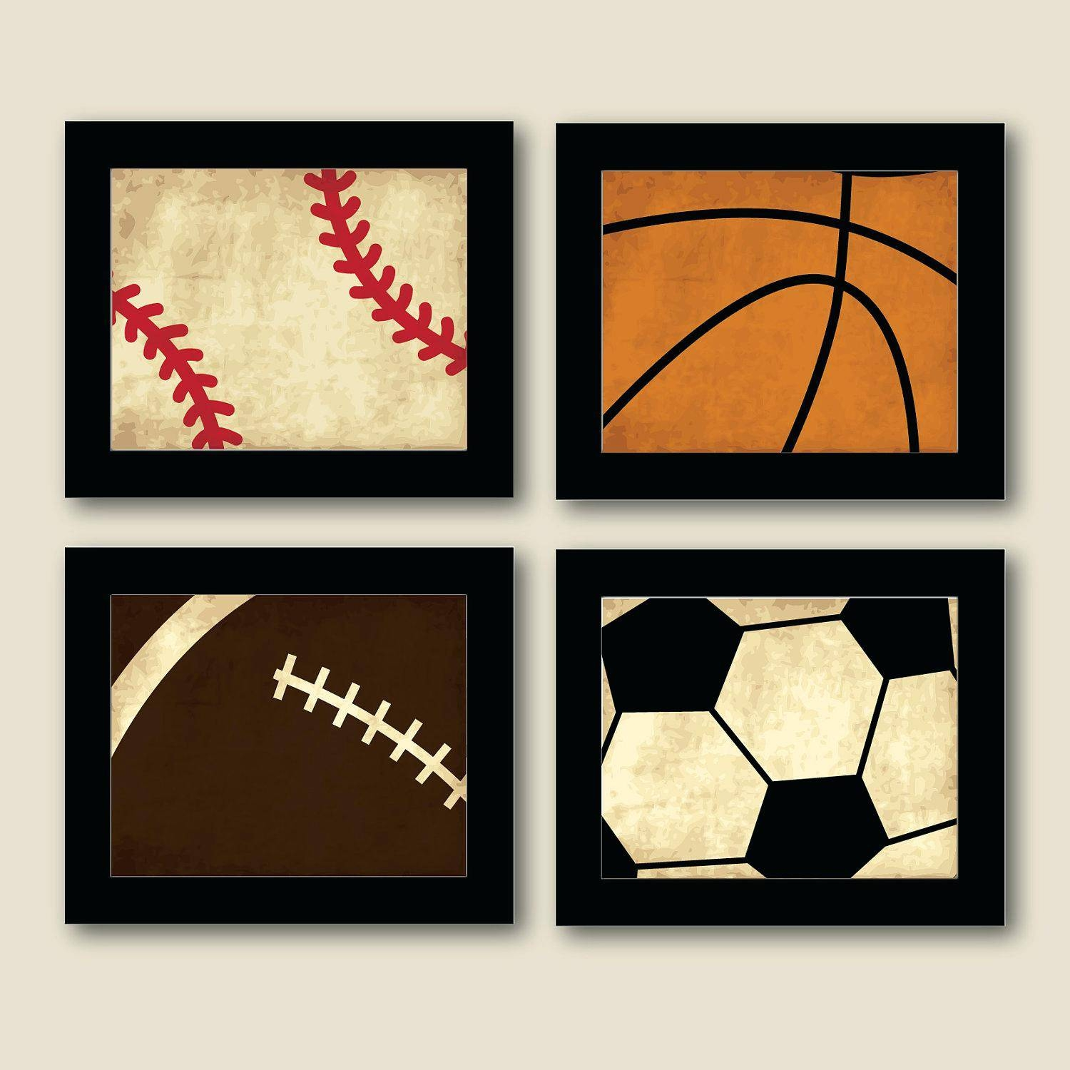 Baseball Wall Decals For Kids Wall Ideas Baseball Wall Art With Regard To Most Recently Released Vintage Baseball Wall Art (Gallery 3 of 30)