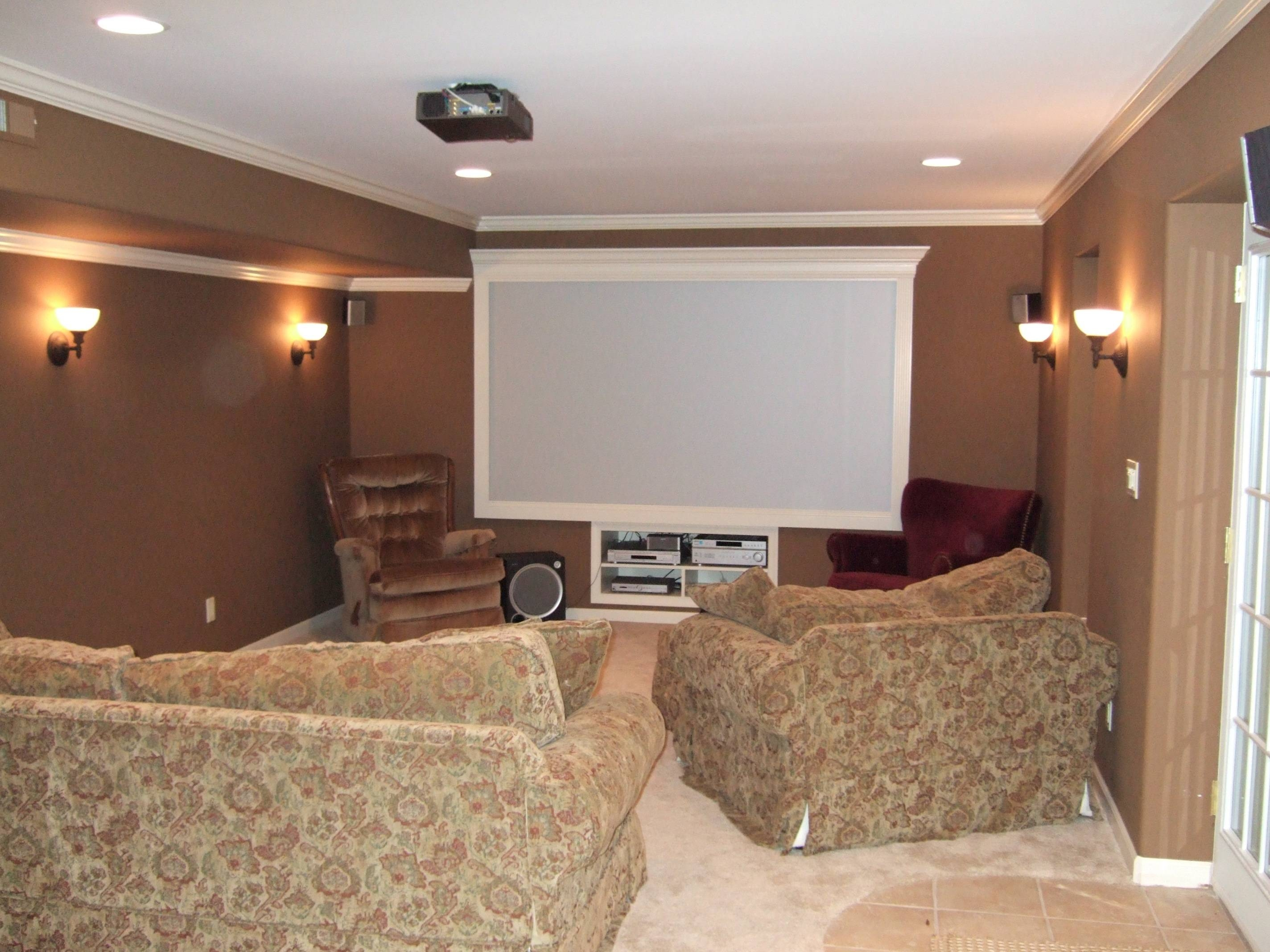 Basement Wall Sconce Height • Wall Sconces With Regard To Most Up To Date Home Theater Wall Art (View 3 of 30)
