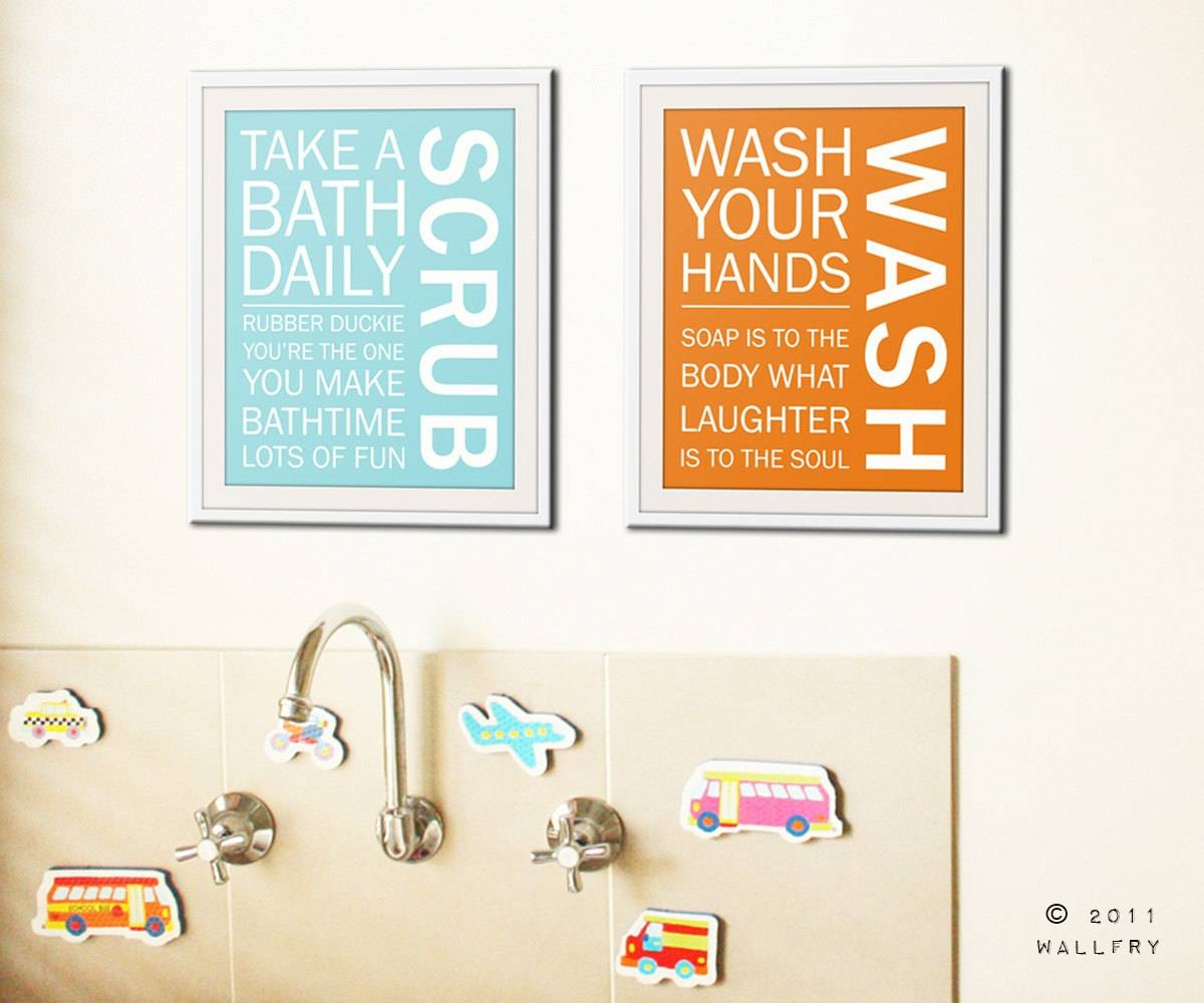Bathroom Art Prints. Bathroom Rules (View 6 of 20)