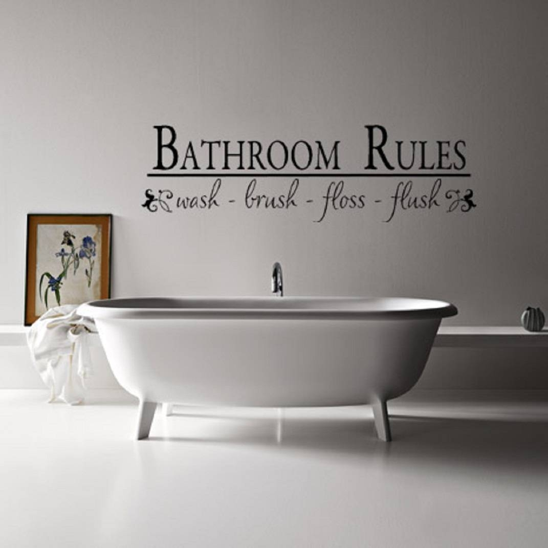 15 the best shower room wall art for Cool bathroom wall art