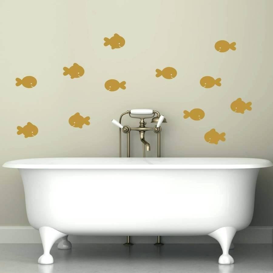 Bathroom Decals For Walls – Hondaherreros Intended For Most Popular Fish Decals For Bathroom (View 5 of 30)