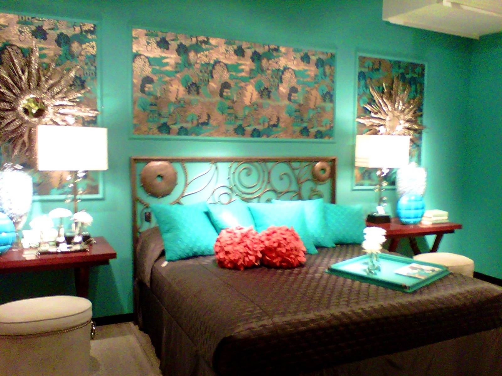 Bathroom : Interesting Living Room Decoration Ideas Delightful Throughout Most Popular Turquoise And Brown Wall Art (View 3 of 25)