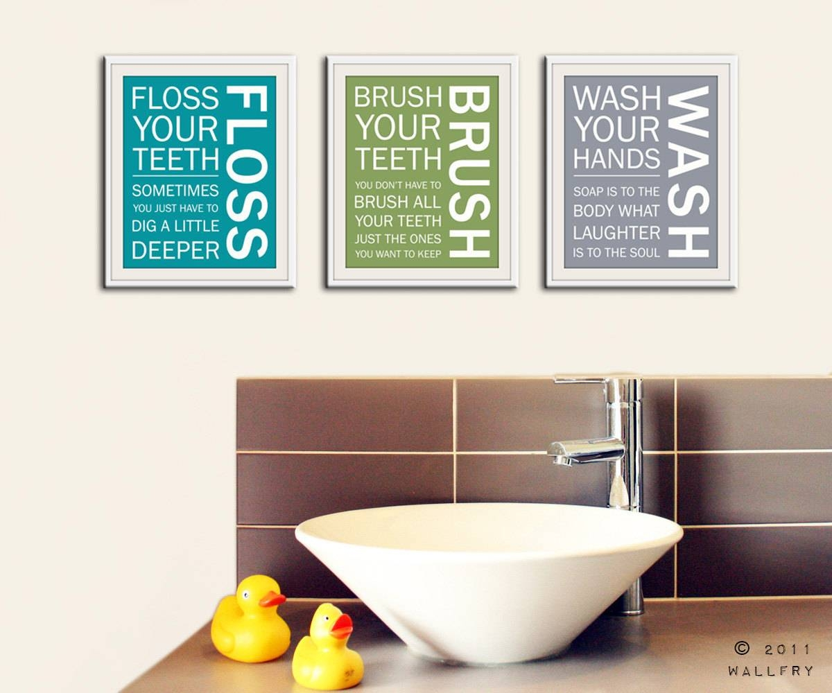 Bathroom : Mesmerizing Cool Inspiration Ideas Bathroom Wall Art Regarding Most Popular Bath Wall Art (View 2 of 16)