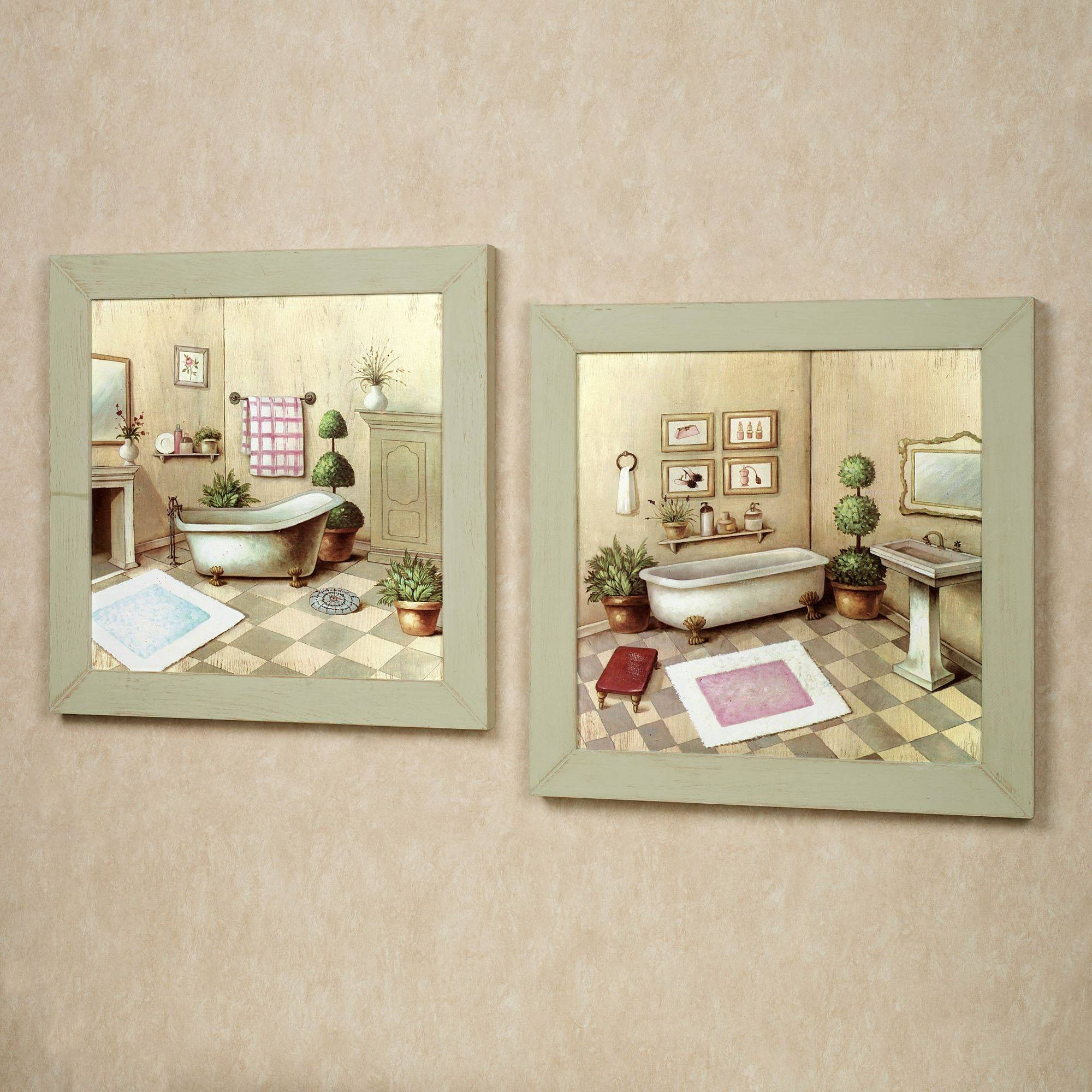 Bathroom: Wall Art Bathroom Canvas Terrific Inspirations And For Regarding Newest Bath Wall Art (View 5 of 16)