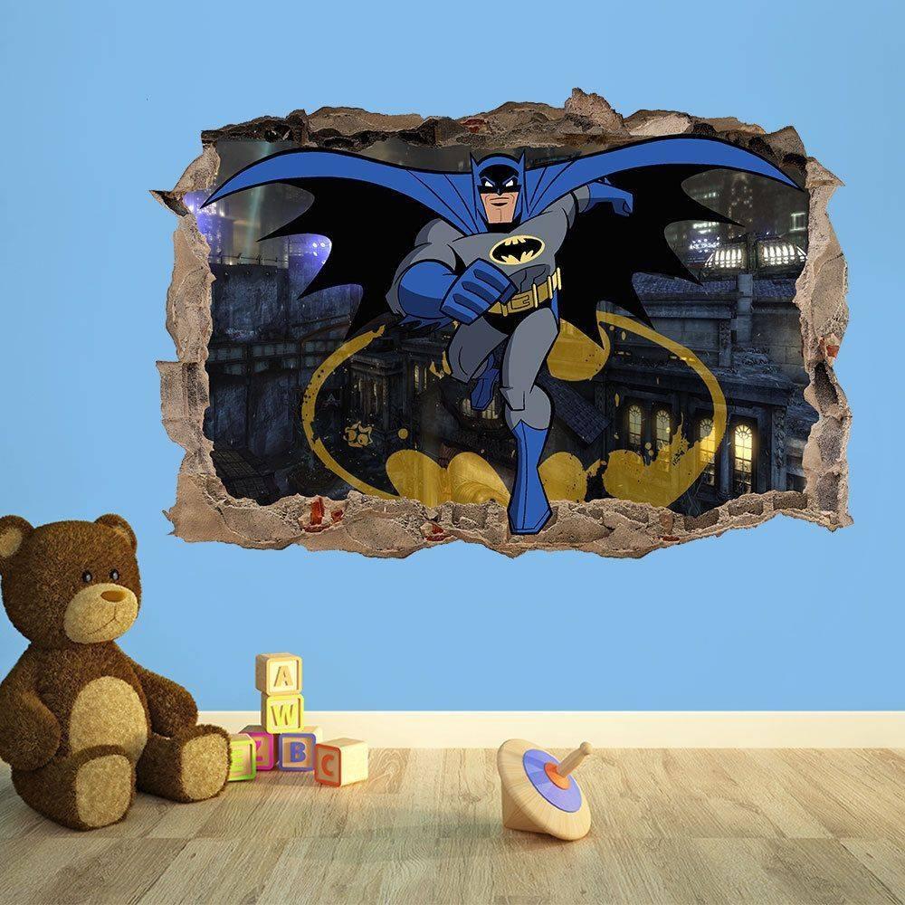Batman C 3D Kids Wall Sticker Kids Bedroom Vinyl Wallsticker With Regard To Current Batman 3D Wall Art (View 19 of 20)