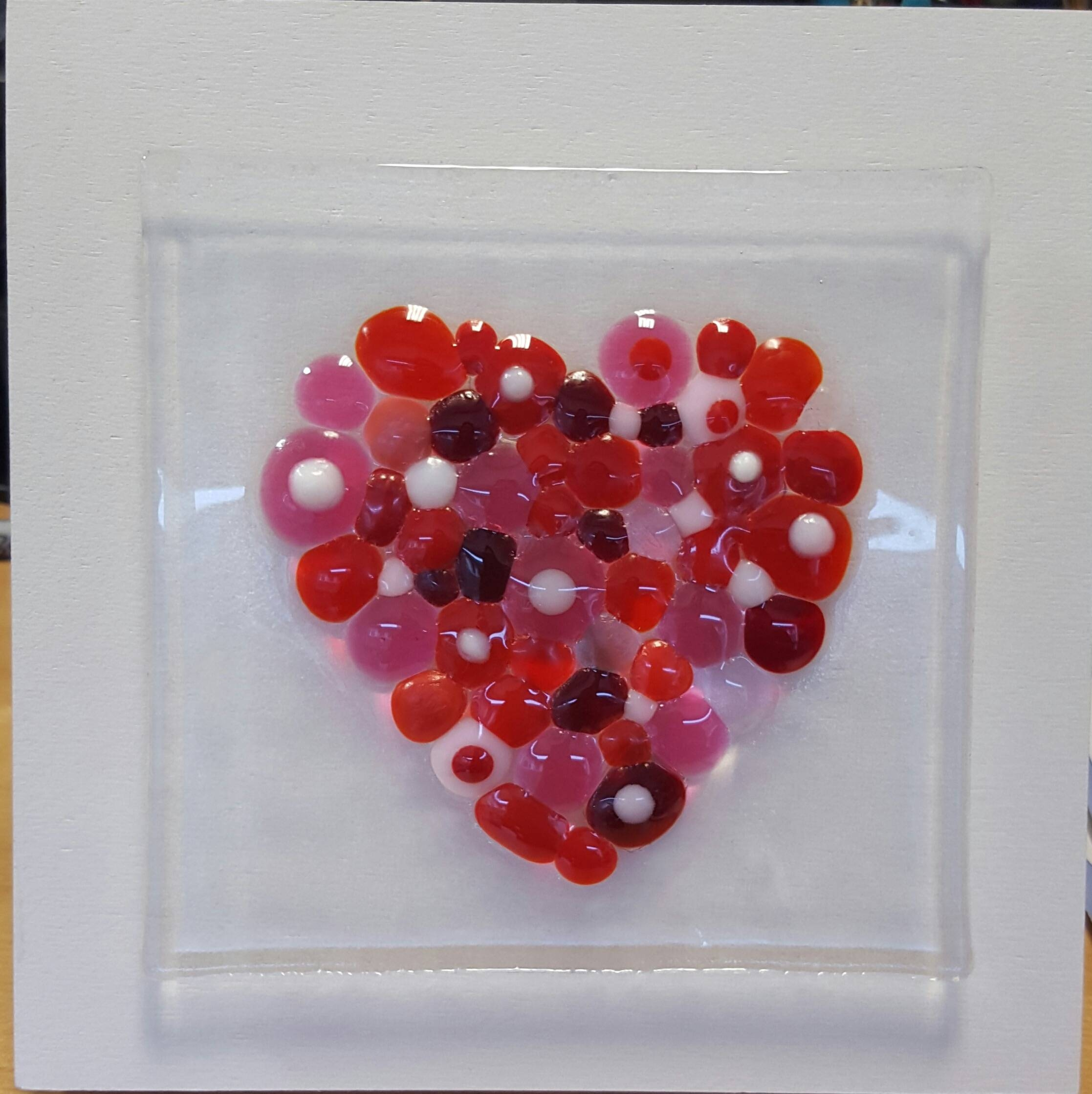 Be My Valentine Fused Glass Wall Hanging | Visarts Throughout Best And Newest Fused Glass Wall Art Hanging (View 15 of 25)