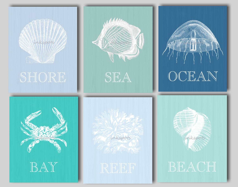 Beach Art Beach Prints Nautical Art Nautical Decor Beach With Regard To Most Current Beach Cottage Wall Art (View 11 of 25)