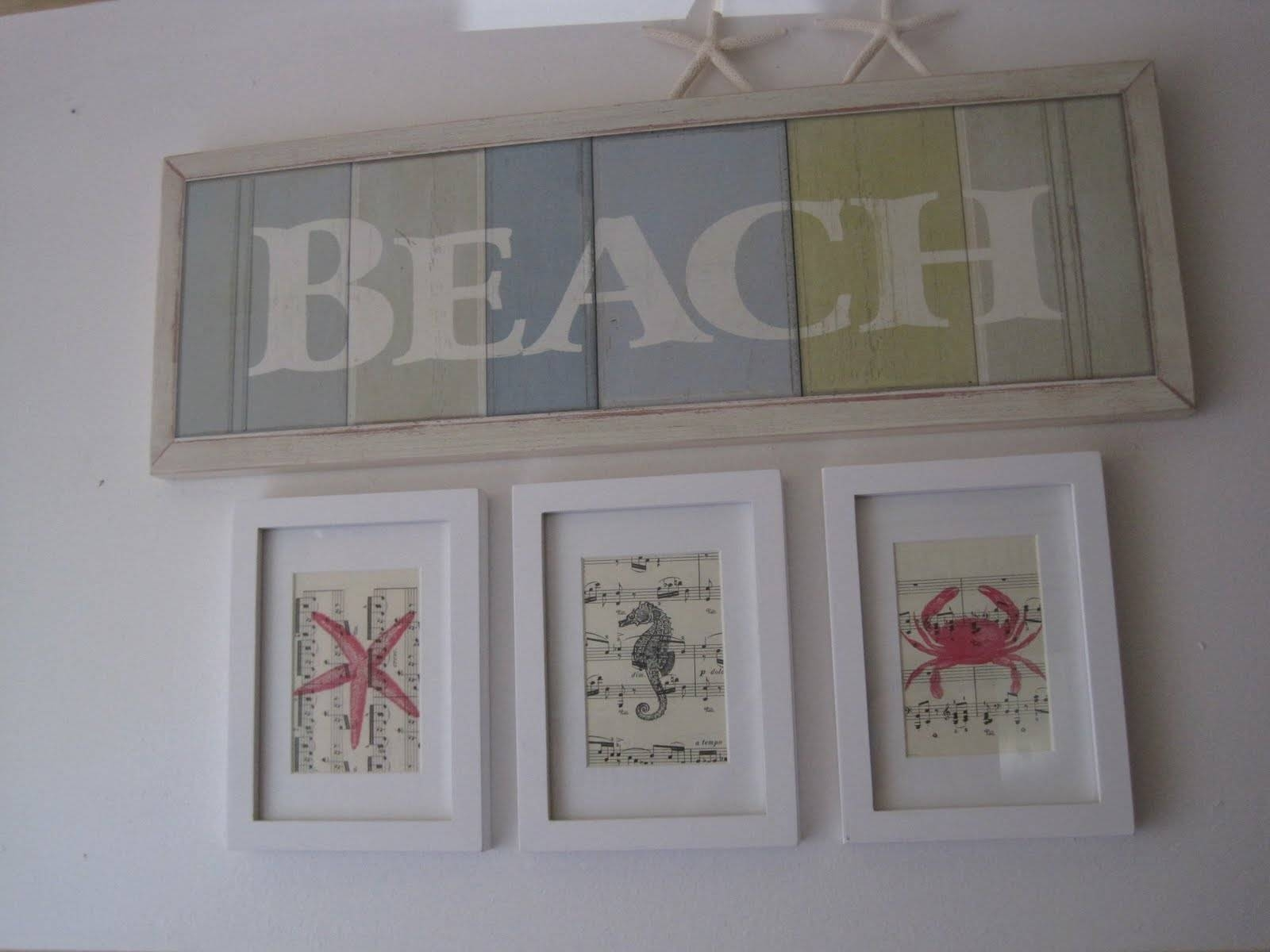 Beach Creatures Wall Art – Okio B Designs In Most Up To Date Beach Theme Wall Art (View 6 of 20)