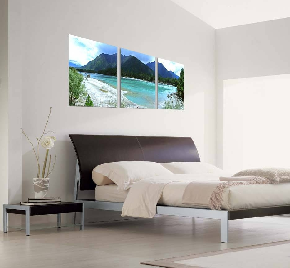 Beach Life Photography 3 Piece Wall Art For Current Over The Bed Wall Art (View 13 of 20)