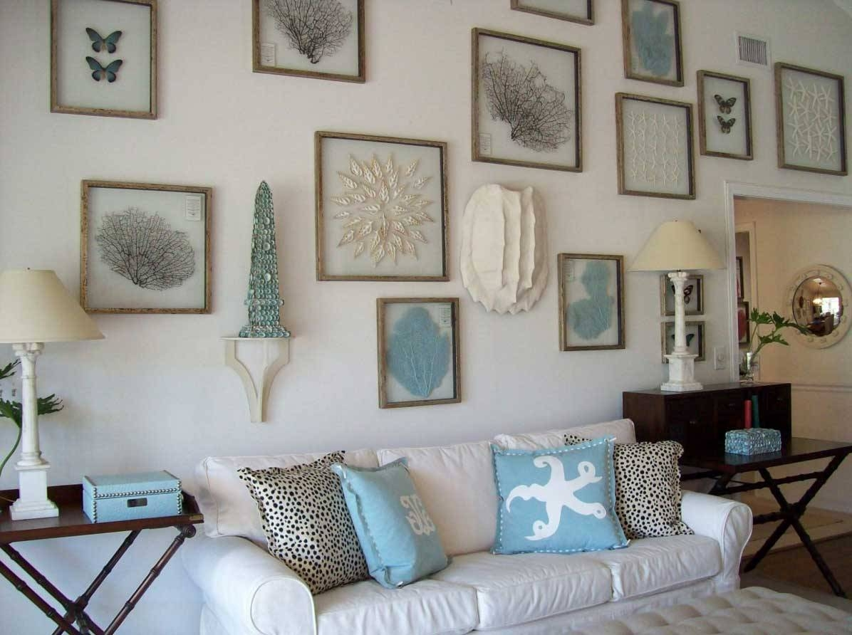 Beach Wall Decor Ideas Throughout Most Up To Date Cottage Art View 8