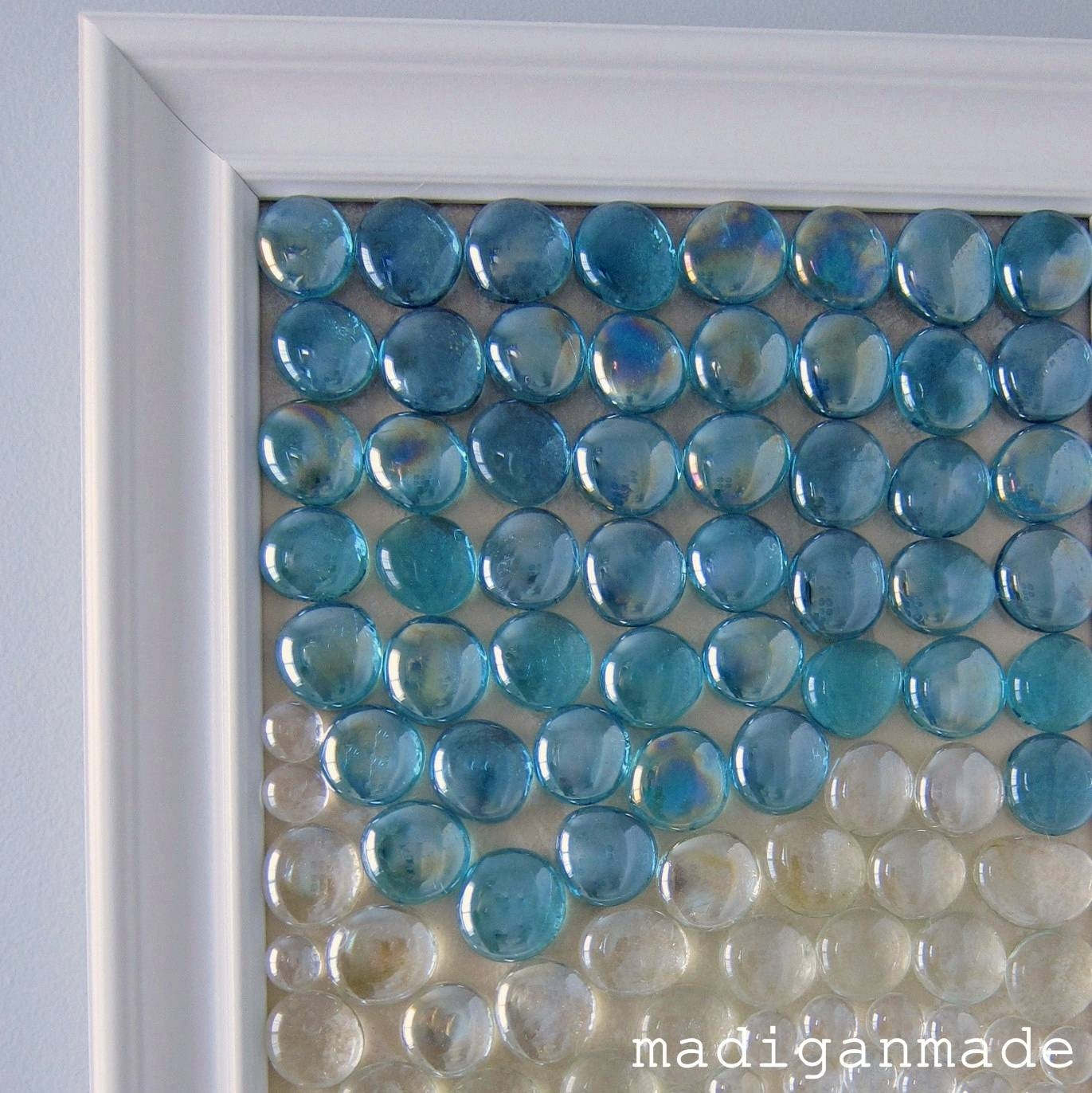 Beachy Glass Gem Wall Art {The Water's Edge} – Rosyscription Inside 2018 Modern Glass Wall Art (View 9 of 20)